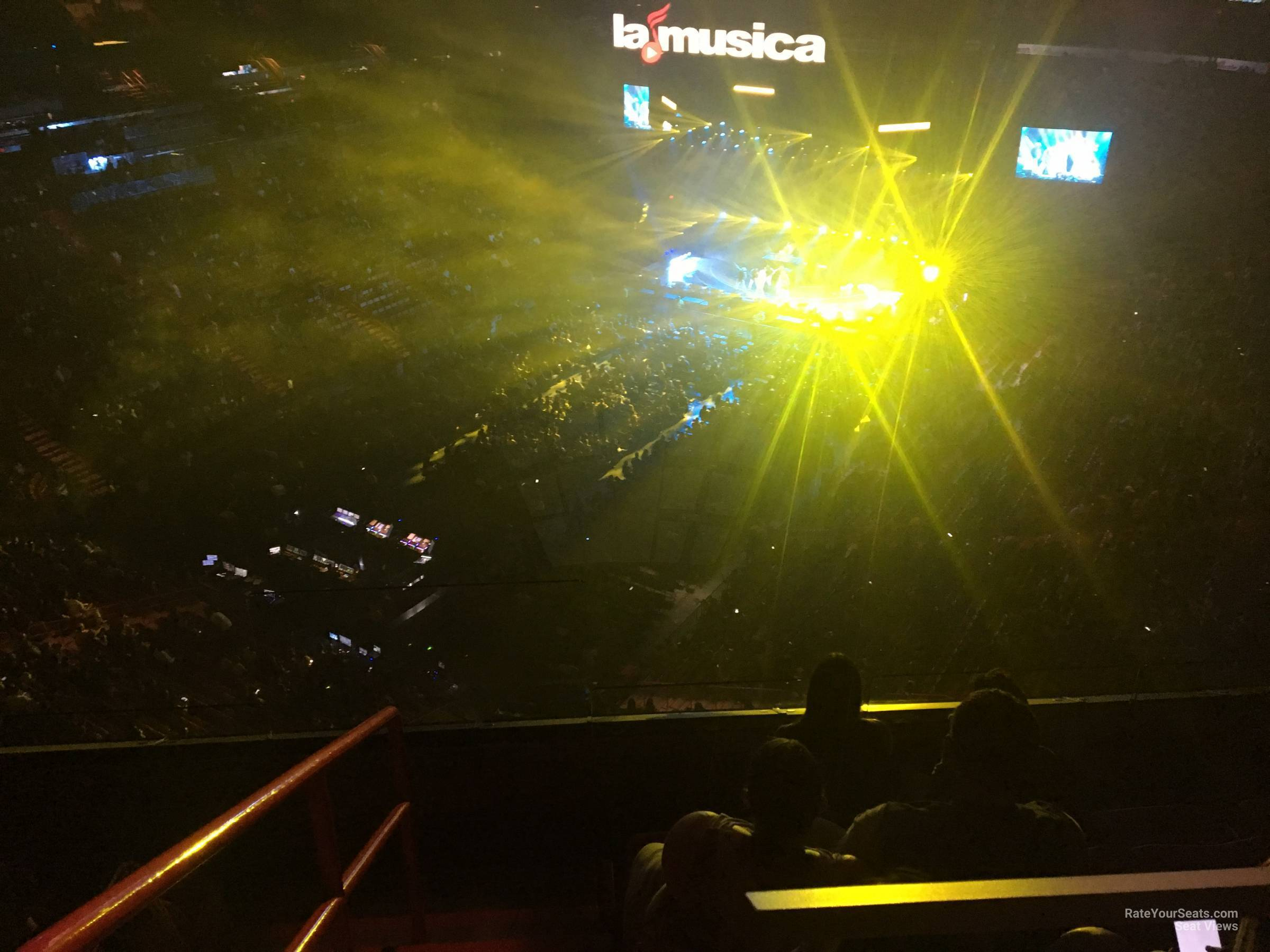 Concert Seat View for AmericanAirlines Arena Section 412, Row 4