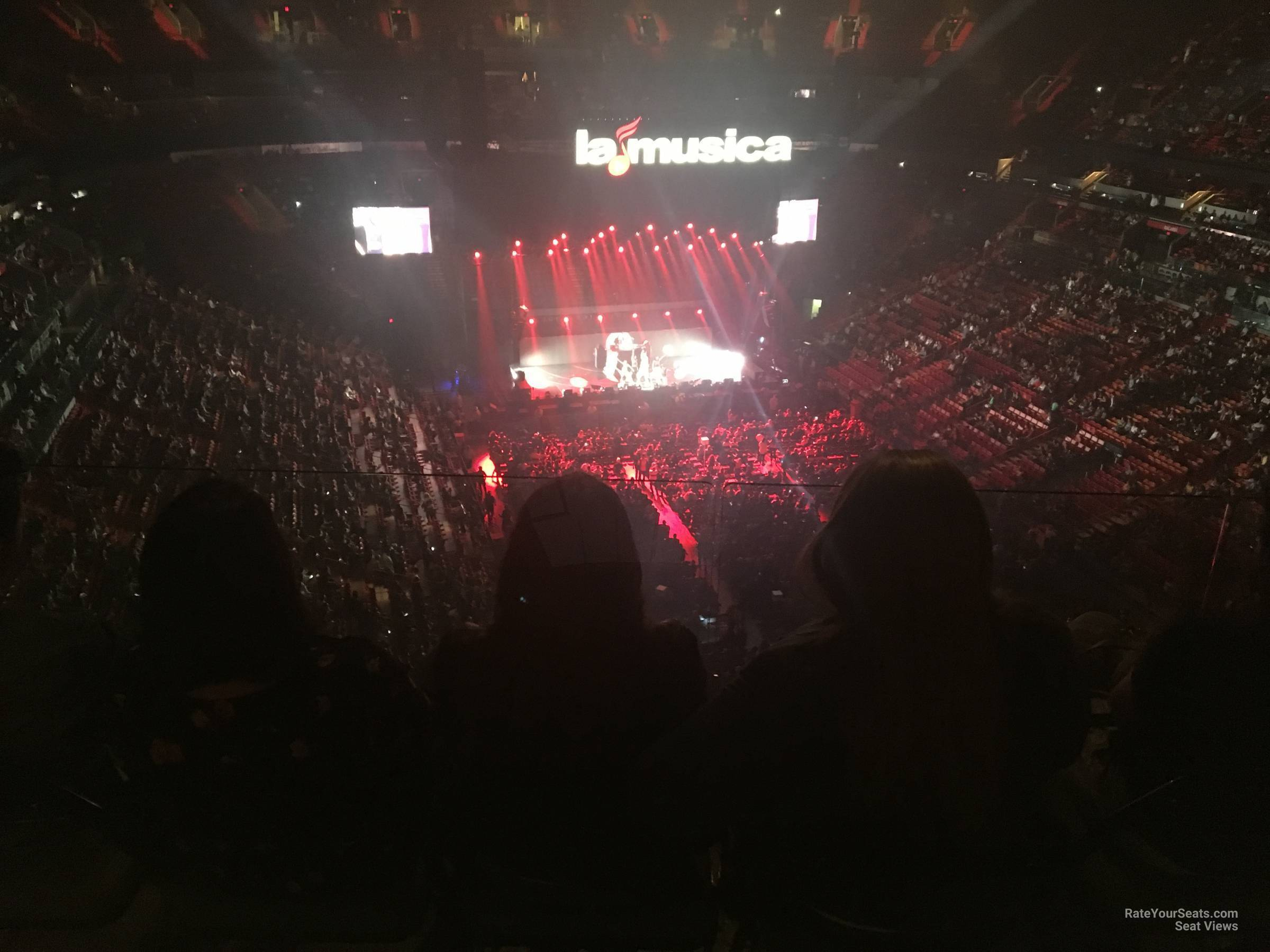 Concert Seat View for AmericanAirlines Arena Section 417, Row 4