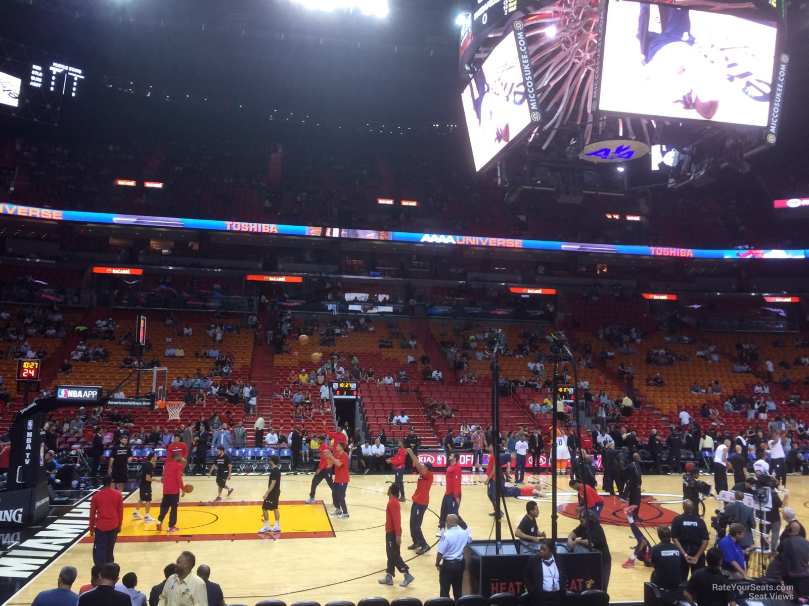 View from Section 120 at AmericanAirlines Arena