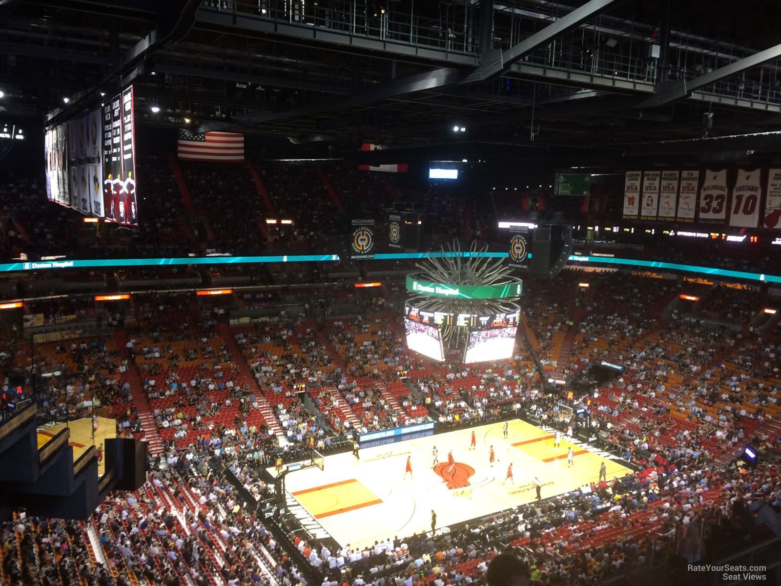 Seat View for AmericanAirlines Arena Section 312, Row 14