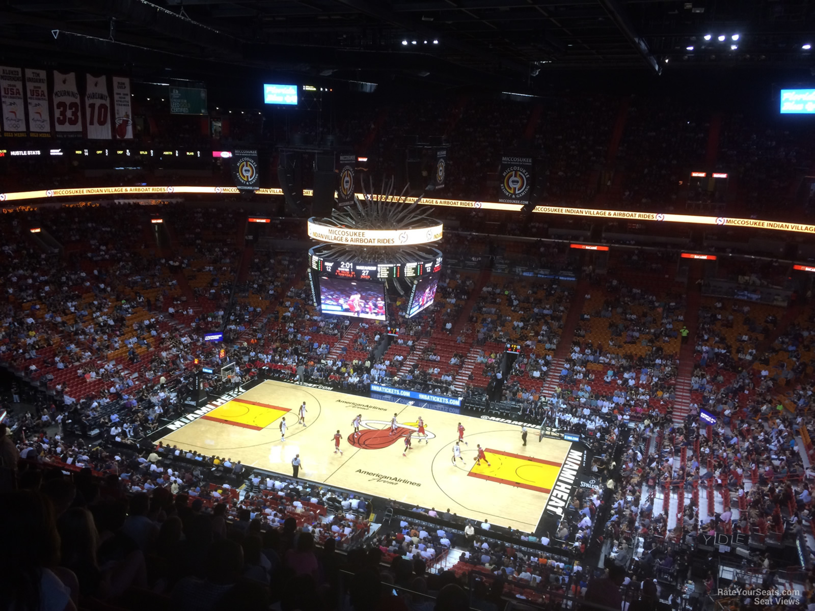 Seat View for AmericanAirlines Arena Section 322, Row 14