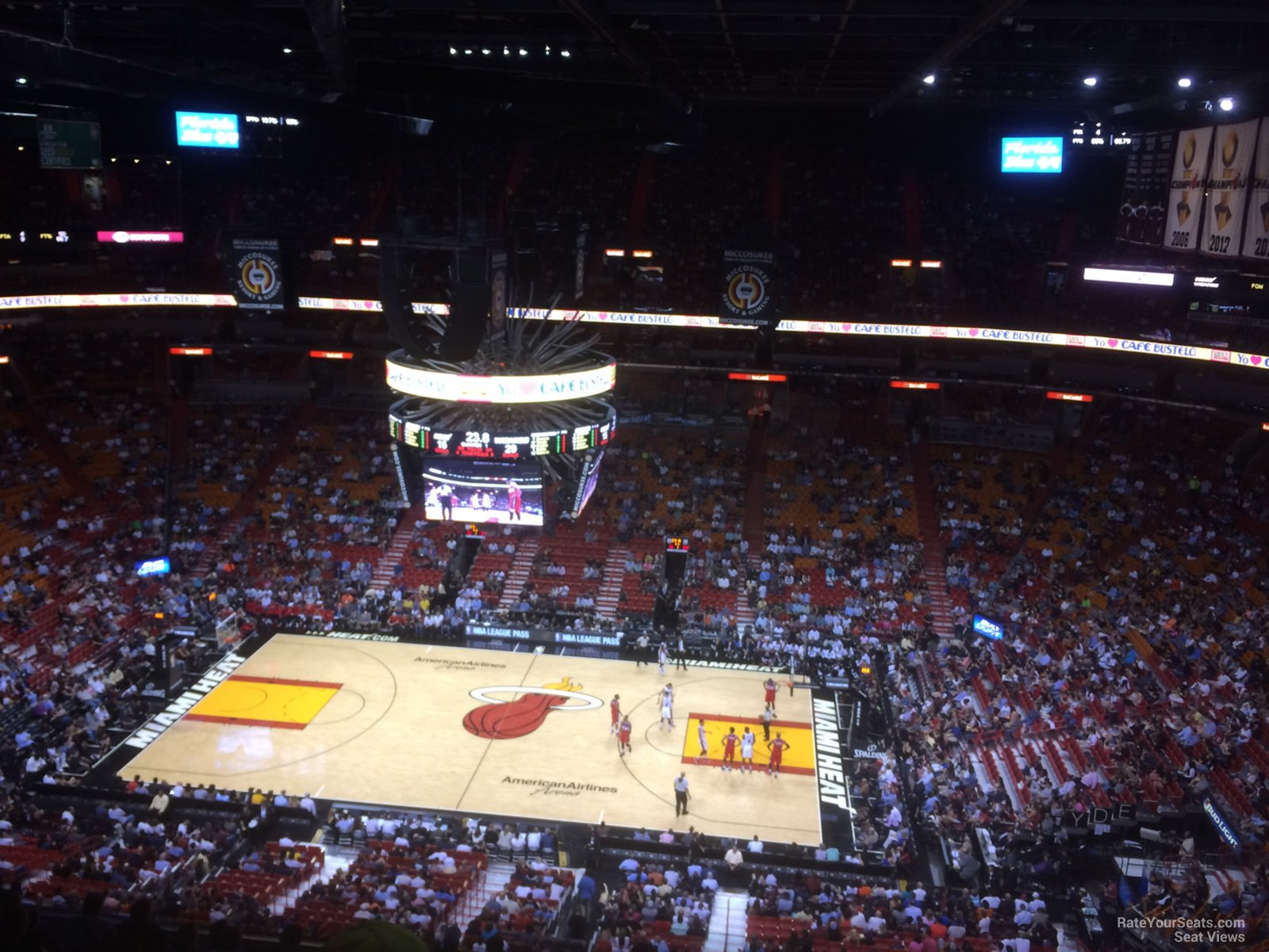 300 Level Center Americanairlines Arena Basketball