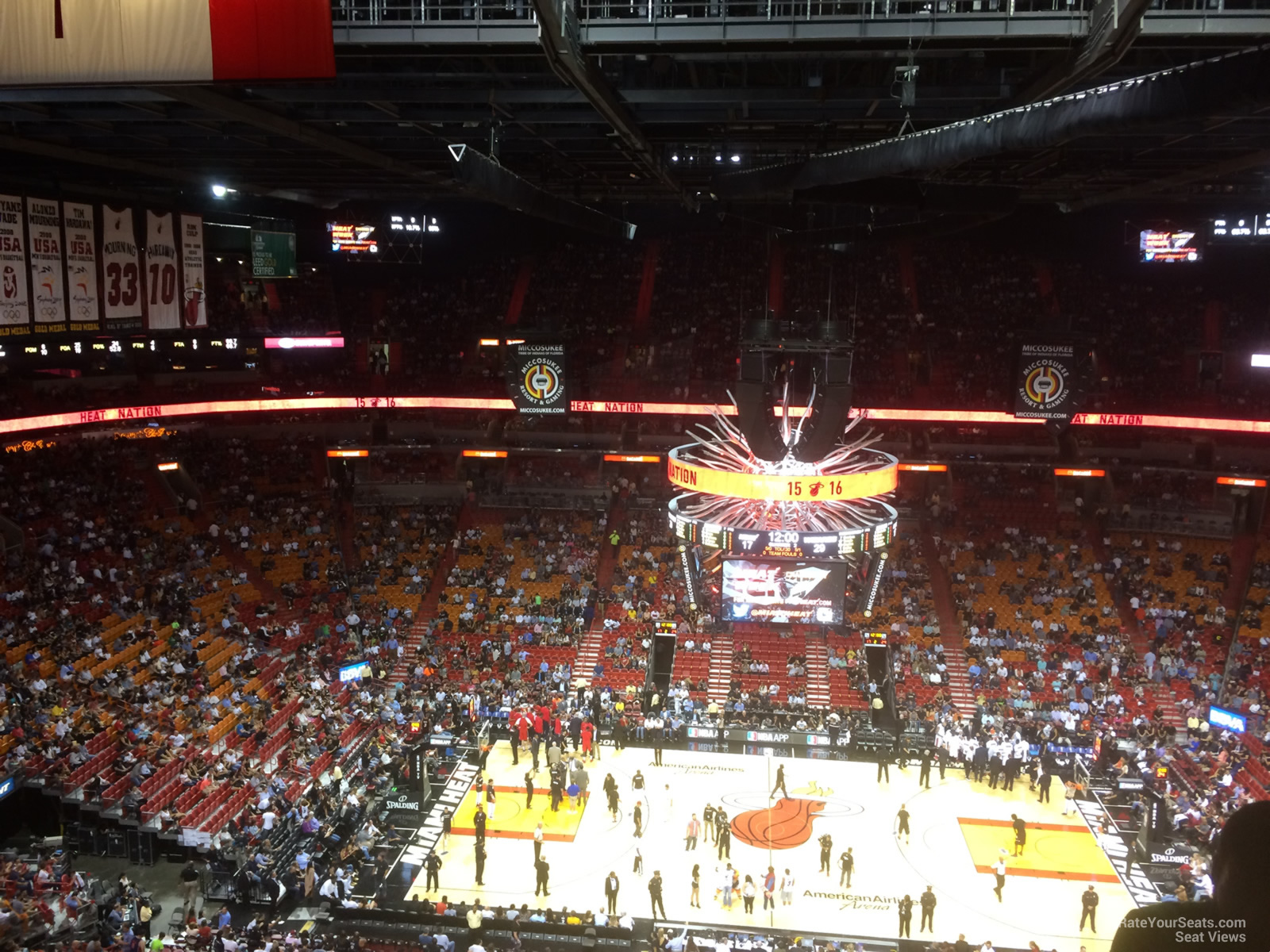 Seat View for AmericanAirlines Arena Section 324, Row 14