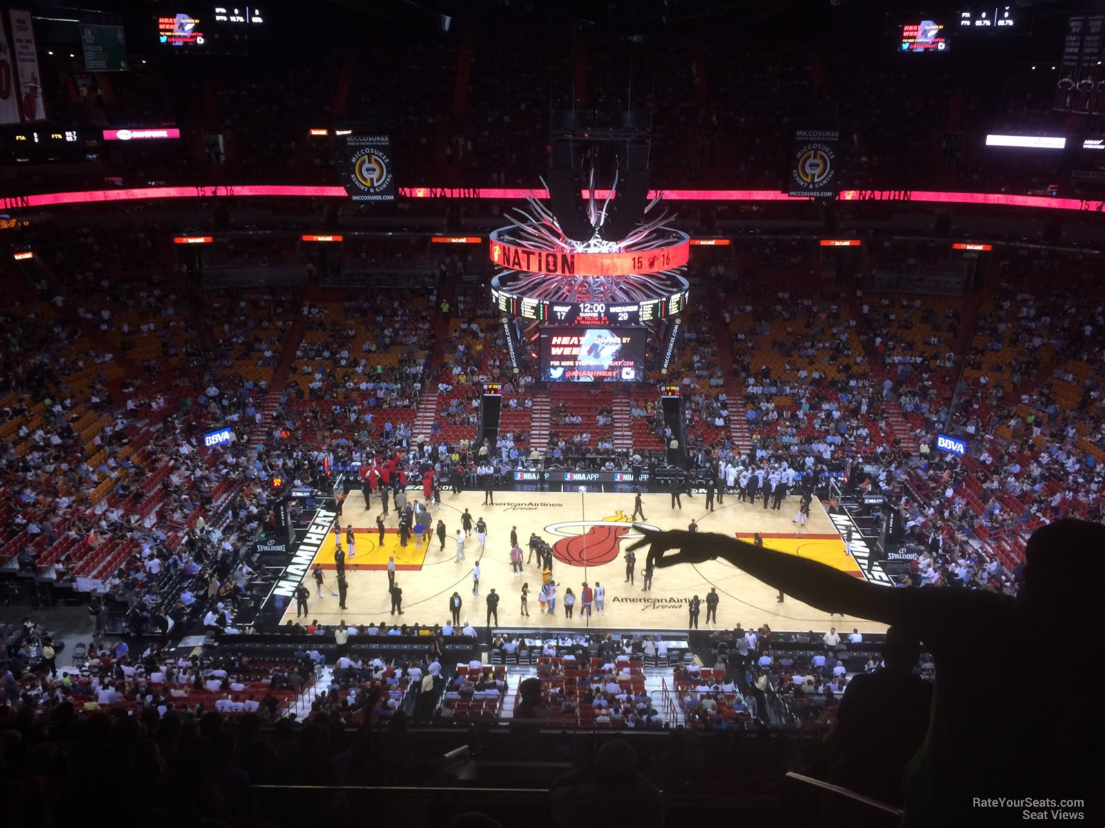 Americanairlines Arena Section 325 Miami Heat