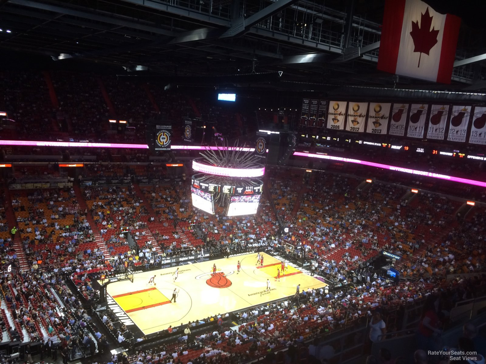 Seat View for AmericanAirlines Arena Section 327, Row 14