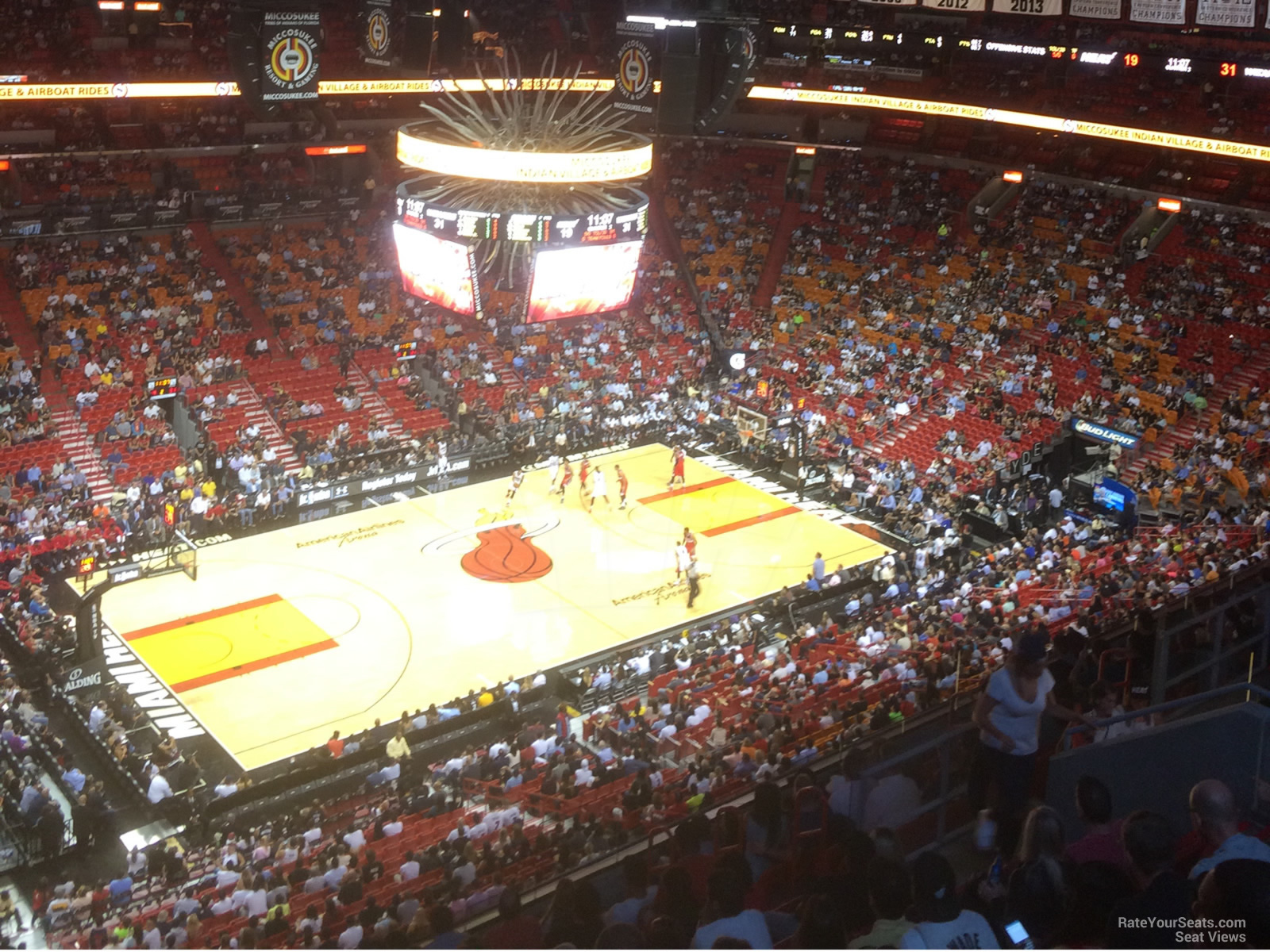 Seat View for AmericanAirlines Arena Section 328, Row 14
