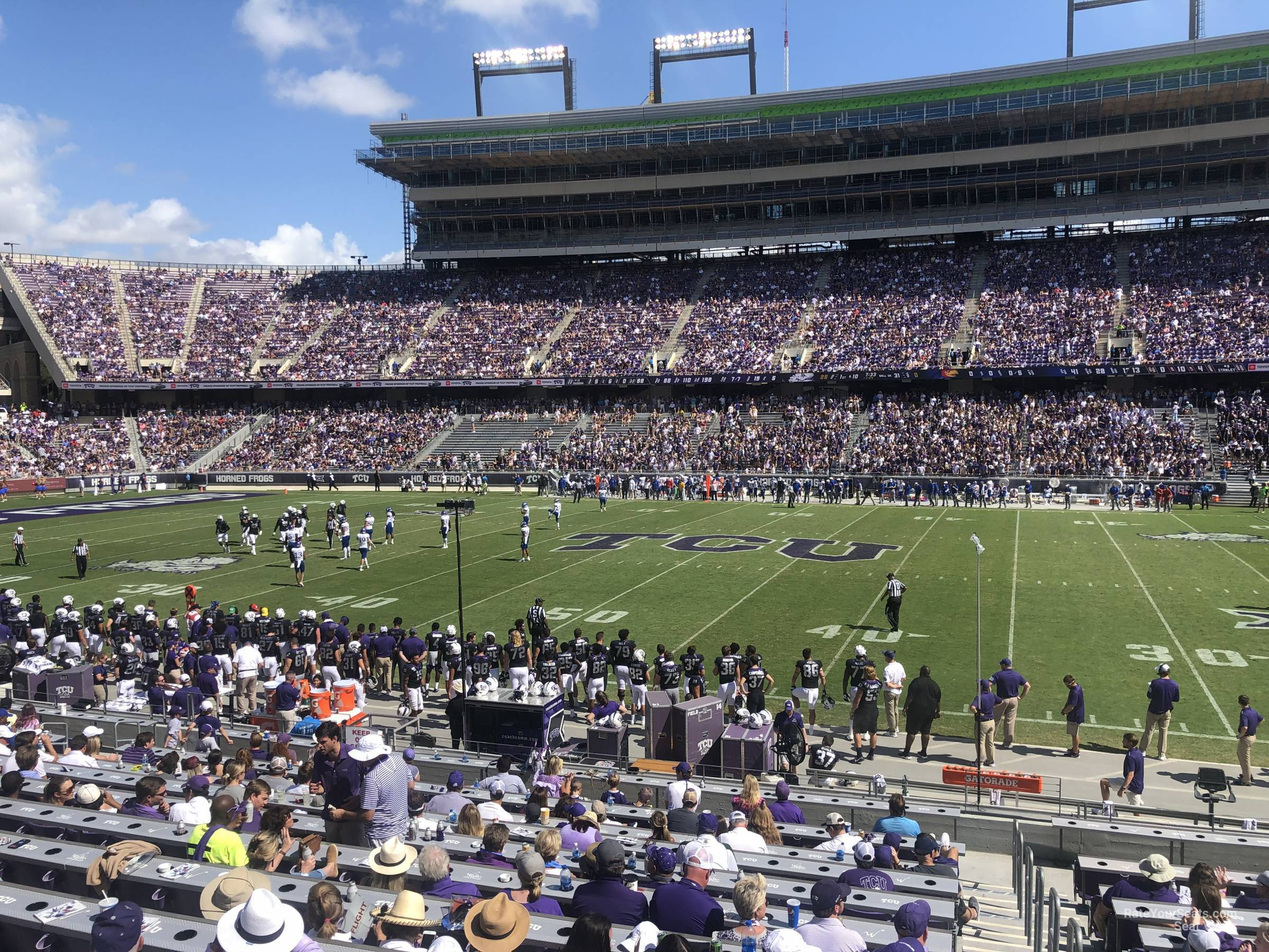 Seat View for Amon Carter Stadium Section 104, Row U