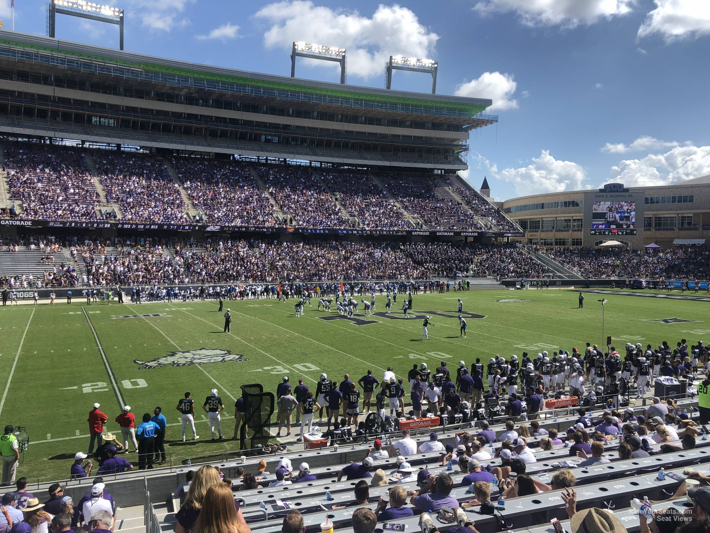 Seat View for Amon Carter Stadium Section 107, Row U