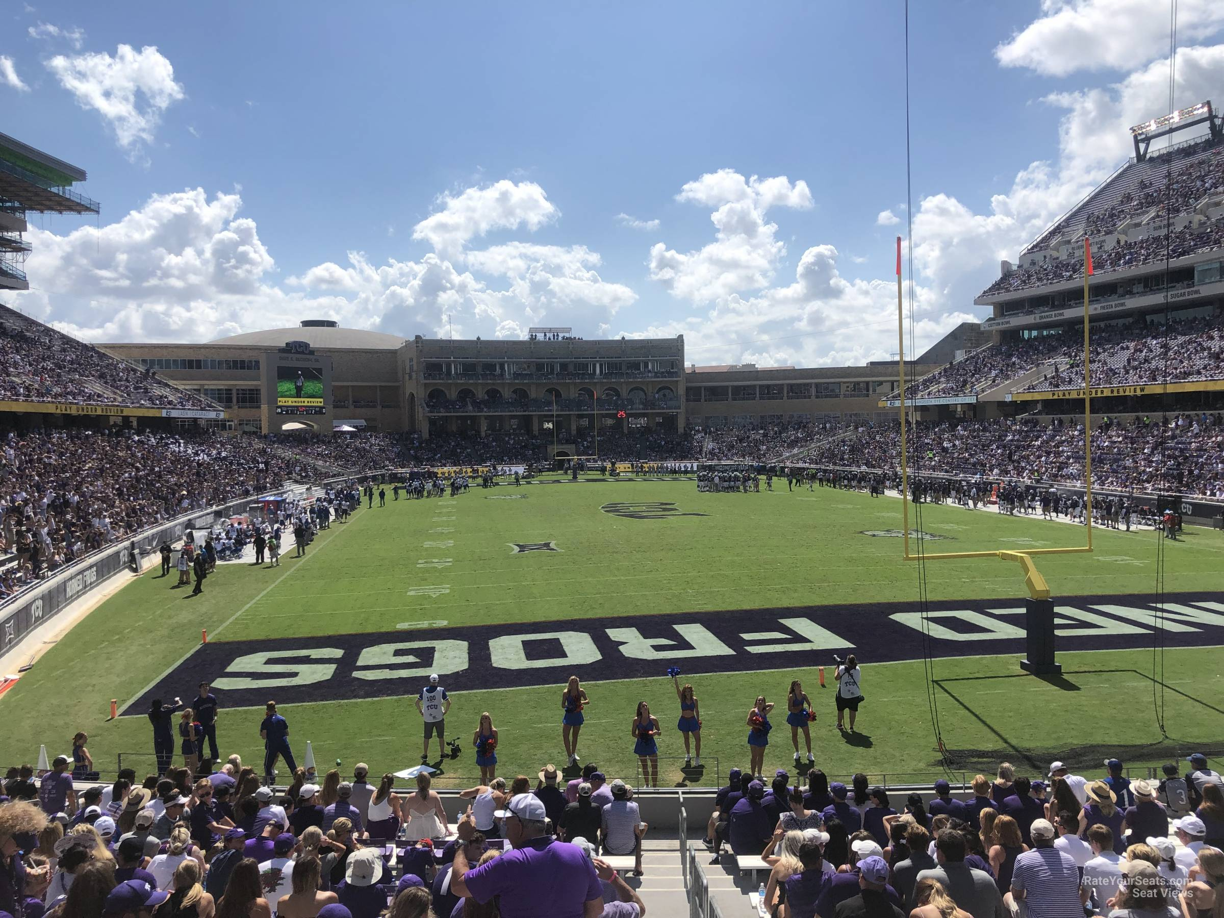 Seat View for Amon Carter Stadium Section 117, Row U