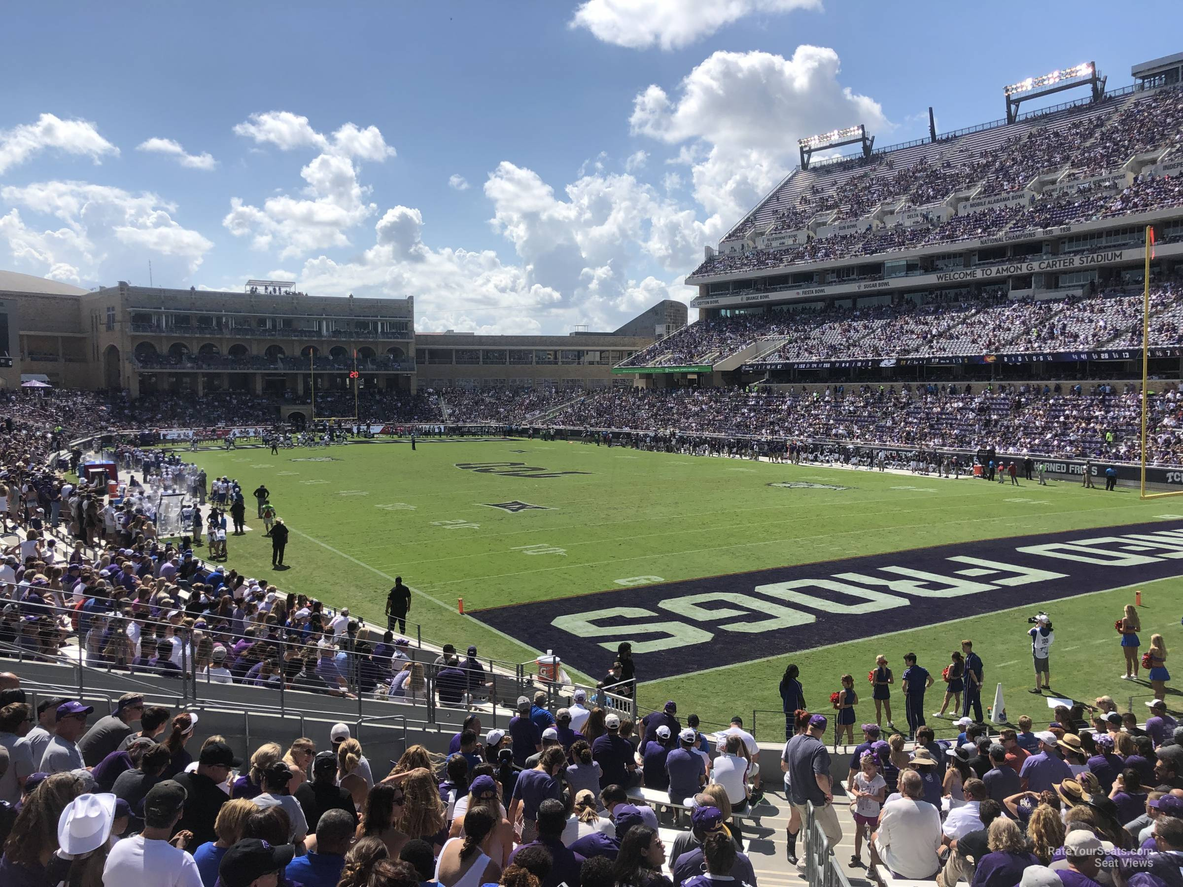 Seat View for Amon Carter Stadium Section 119, Row U