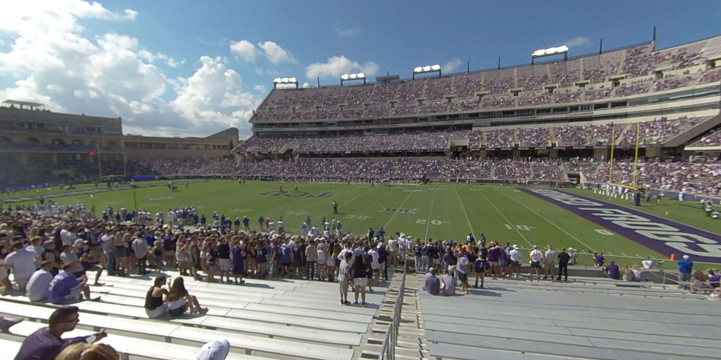 360° Photo From Amon Carter Stadium Section 123