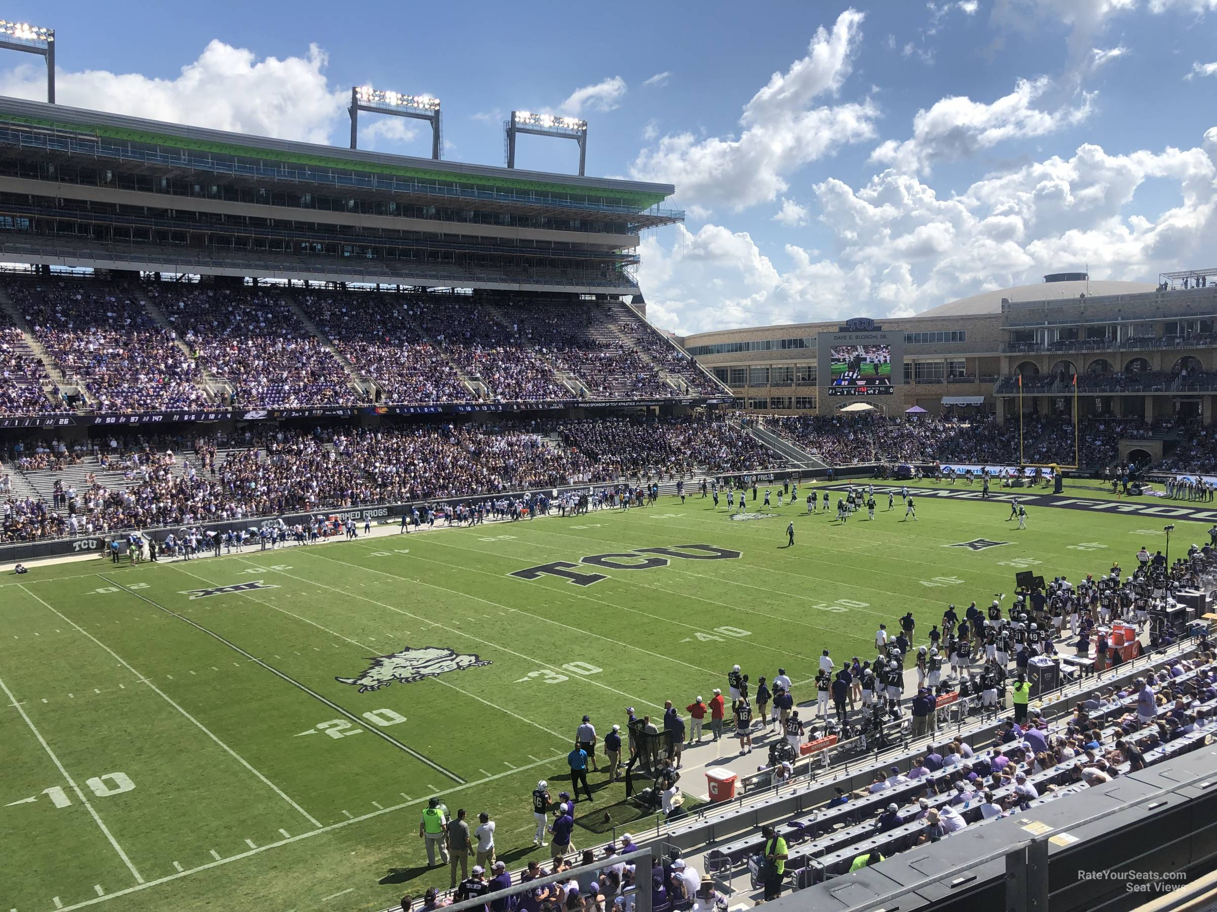 Seat View for Amon Carter Stadium Section 212, Row B