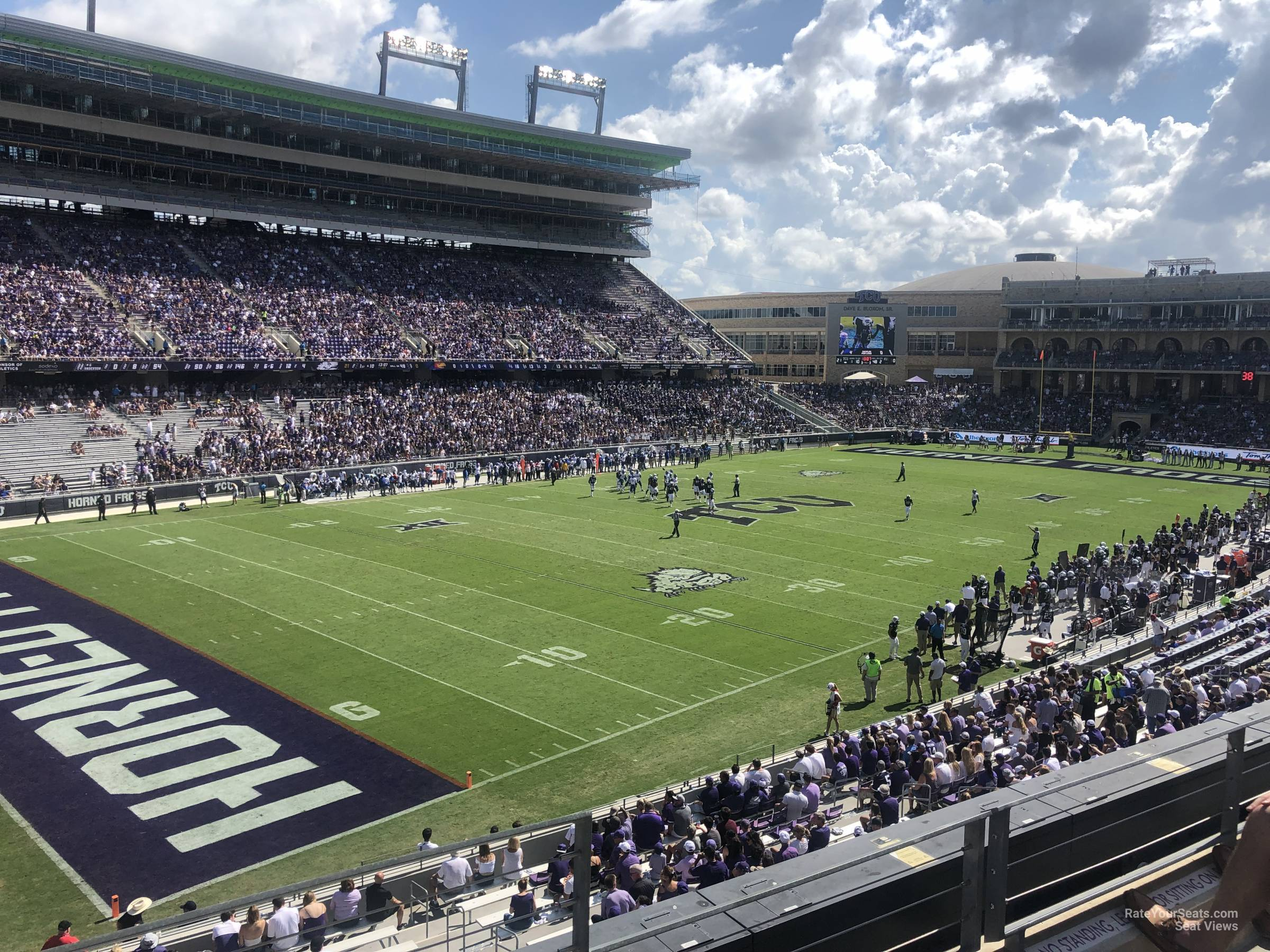 Seat View for Amon Carter Stadium Section 214, Row B