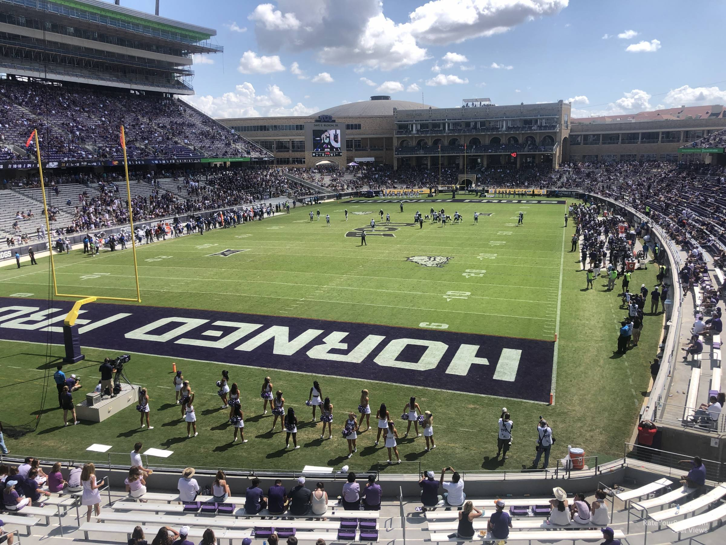 Seat View for Amon Carter Stadium Section 219, Row B