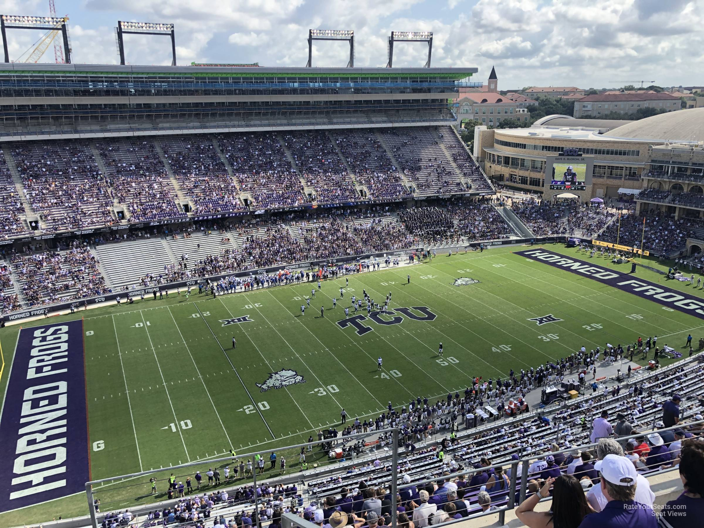 Seat View for Amon Carter Stadium Section 409, Row E