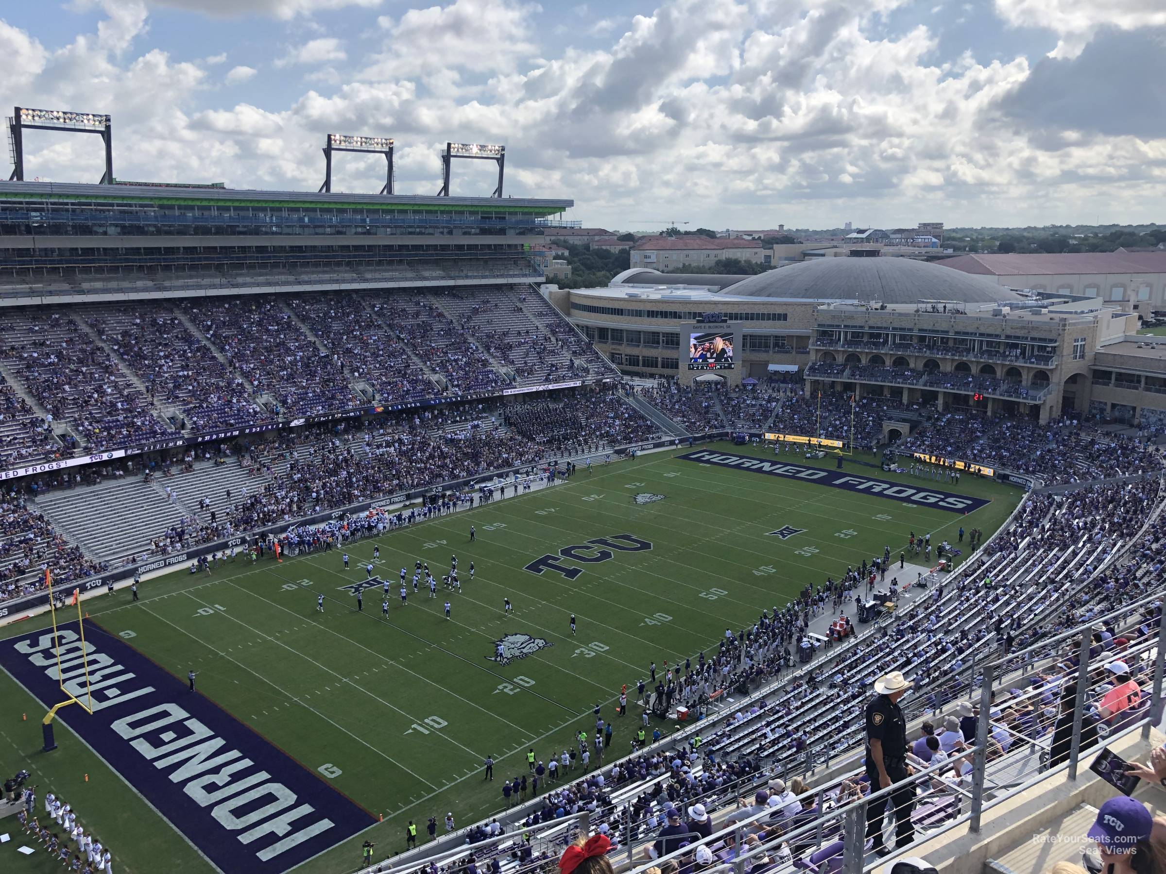 Seat View for Amon Carter Stadium Section 412, Row E