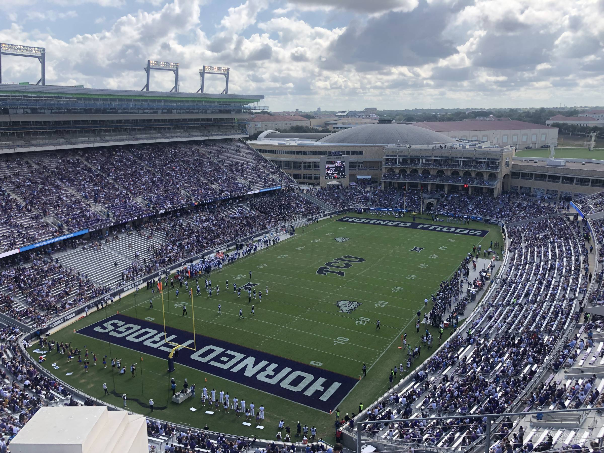 Seat View for Amon Carter Stadium Section 416, Row E