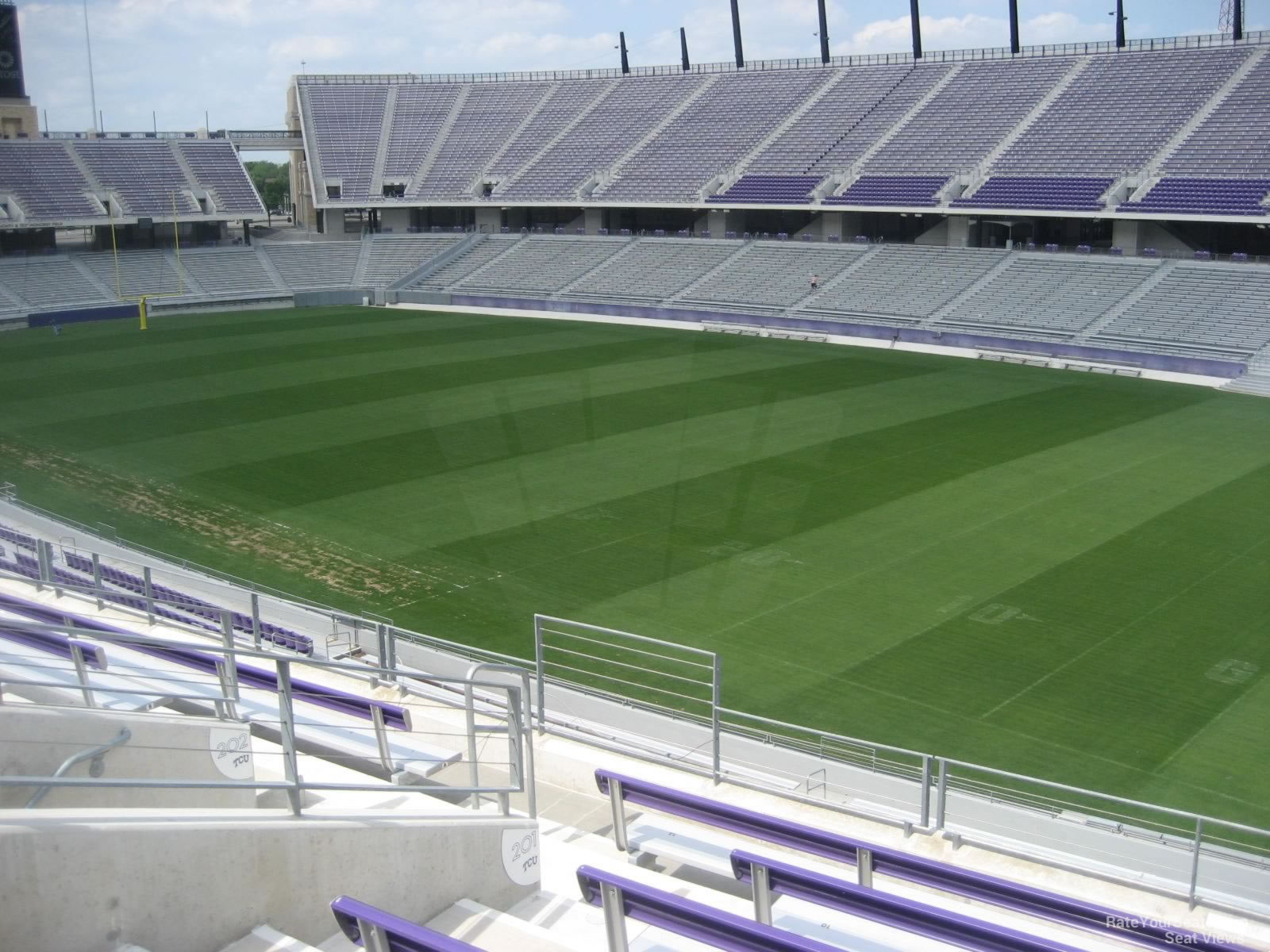 Seat View for Amon Carter Stadium Section 201, Row G