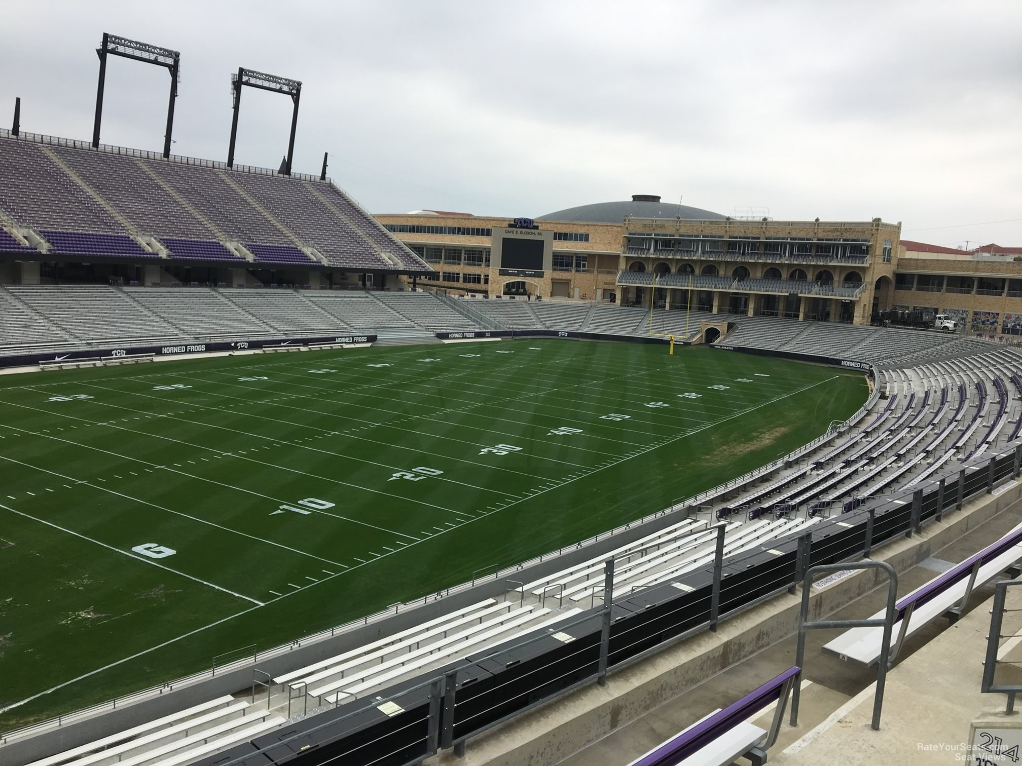 Seat View for Amon Carter Stadium Section 214, Row D