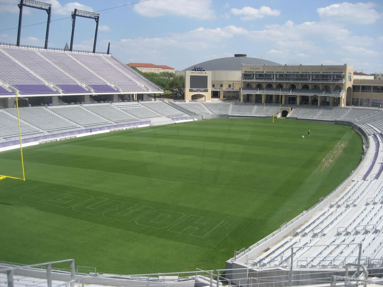 Seat View for Amon Carter Stadium Section 217, Row G