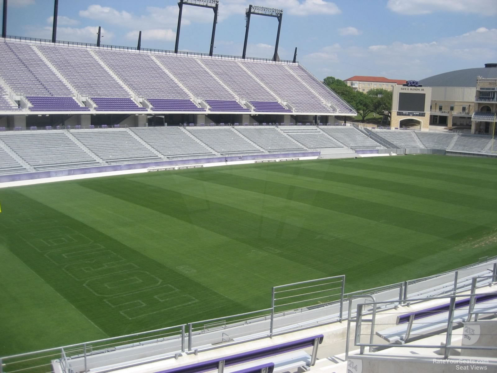 Seat View for Amon Carter Stadium Section 220, Row G