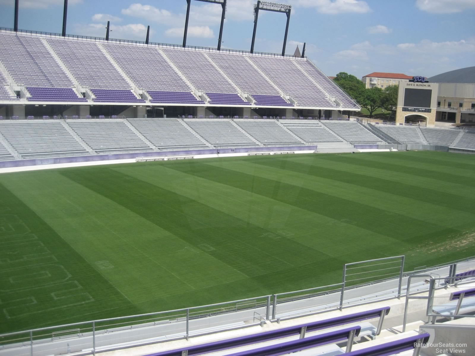 Seat View for Amon Carter Stadium Section 221, Row G