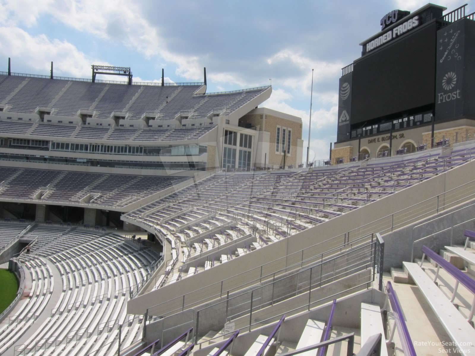 Seat View for Amon Carter Stadium Section 227, Row H