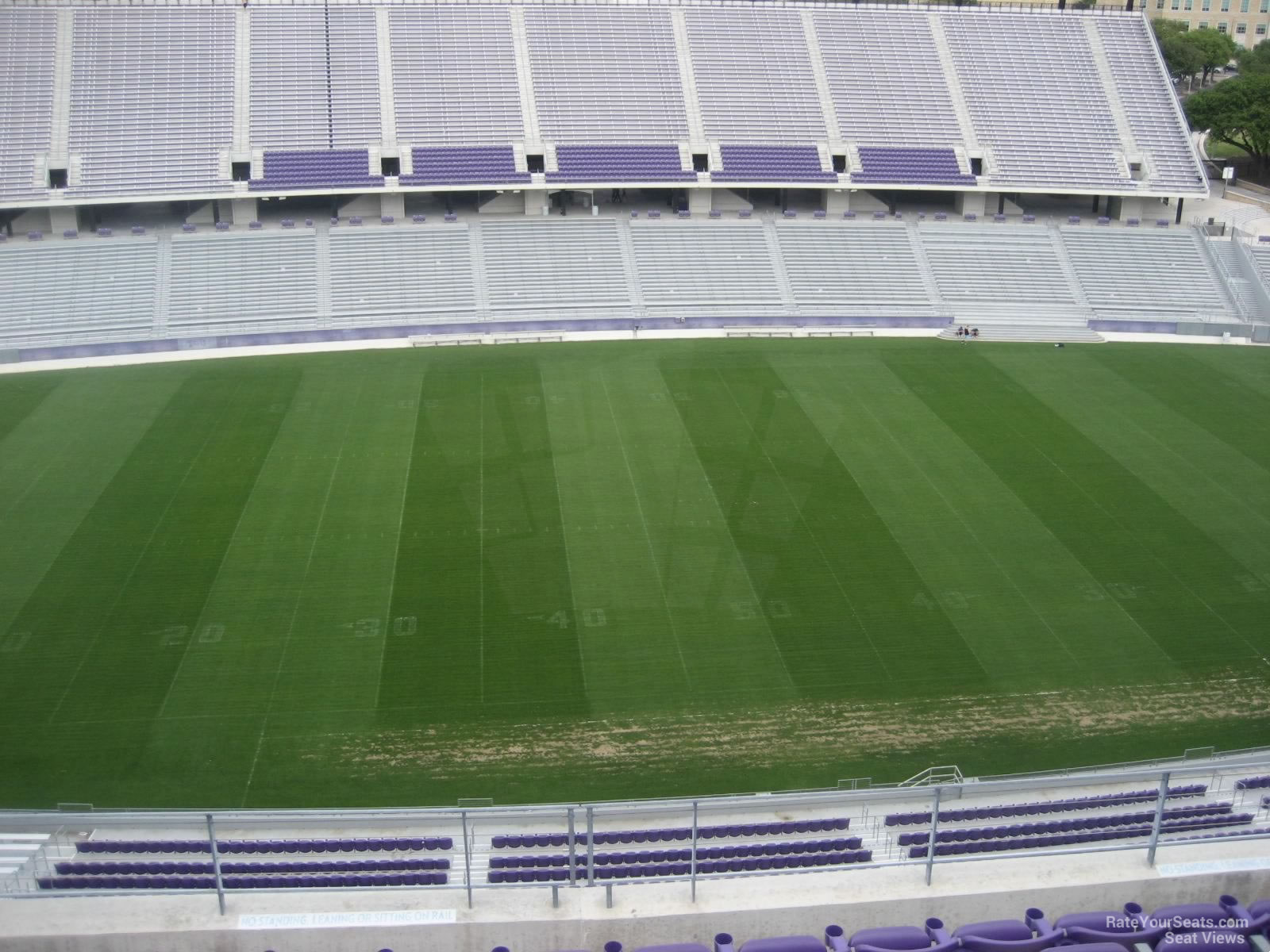 Seat View for Amon Carter Stadium Section 307, Row G