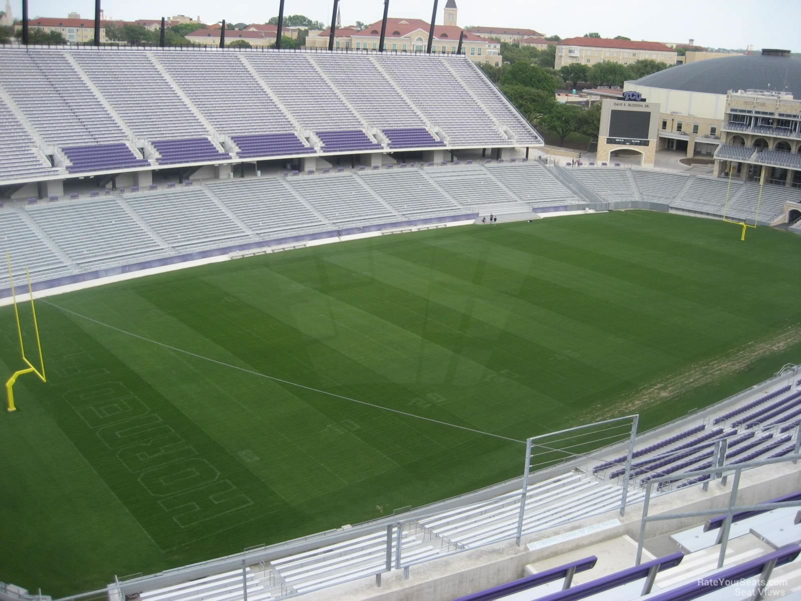 Seat View for Amon Carter Stadium Section 312, Row G