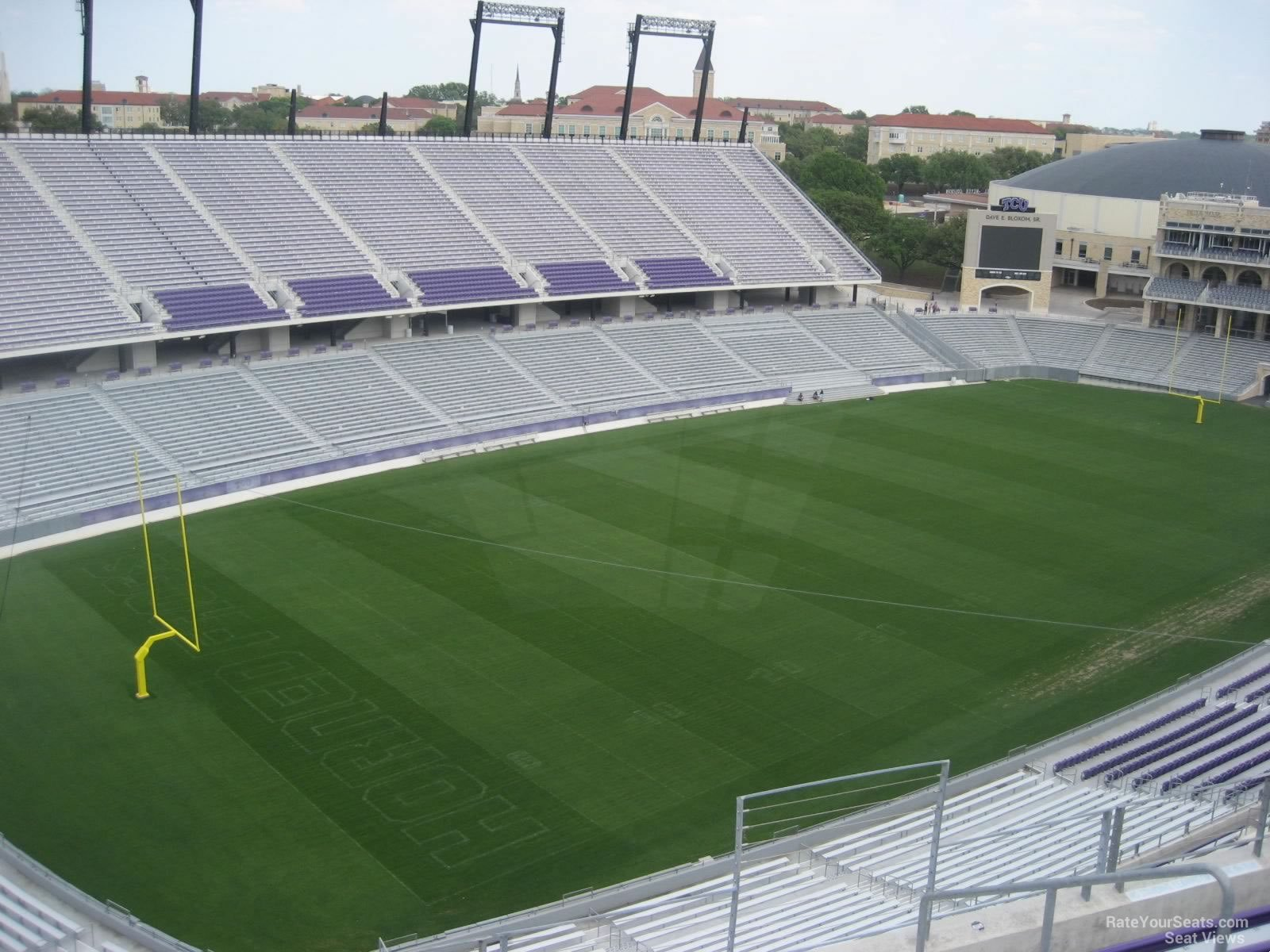 Seat View for Amon Carter Stadium Section 313, Row G