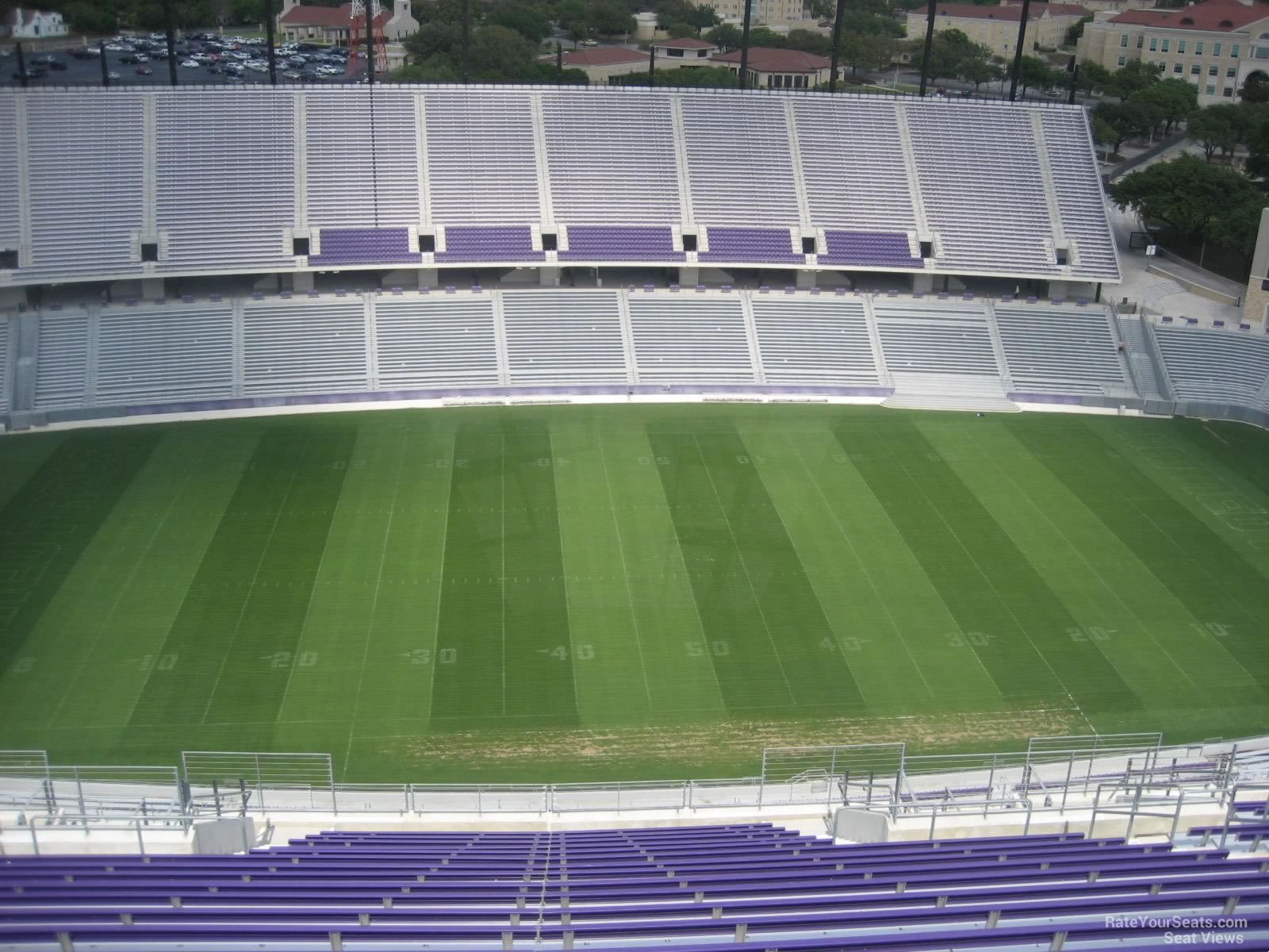 Seat View for Amon Carter Stadium Section 407, Row V