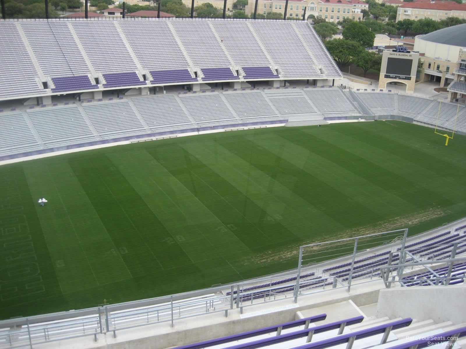Seat View for Amon Carter Stadium Section 410, Row H