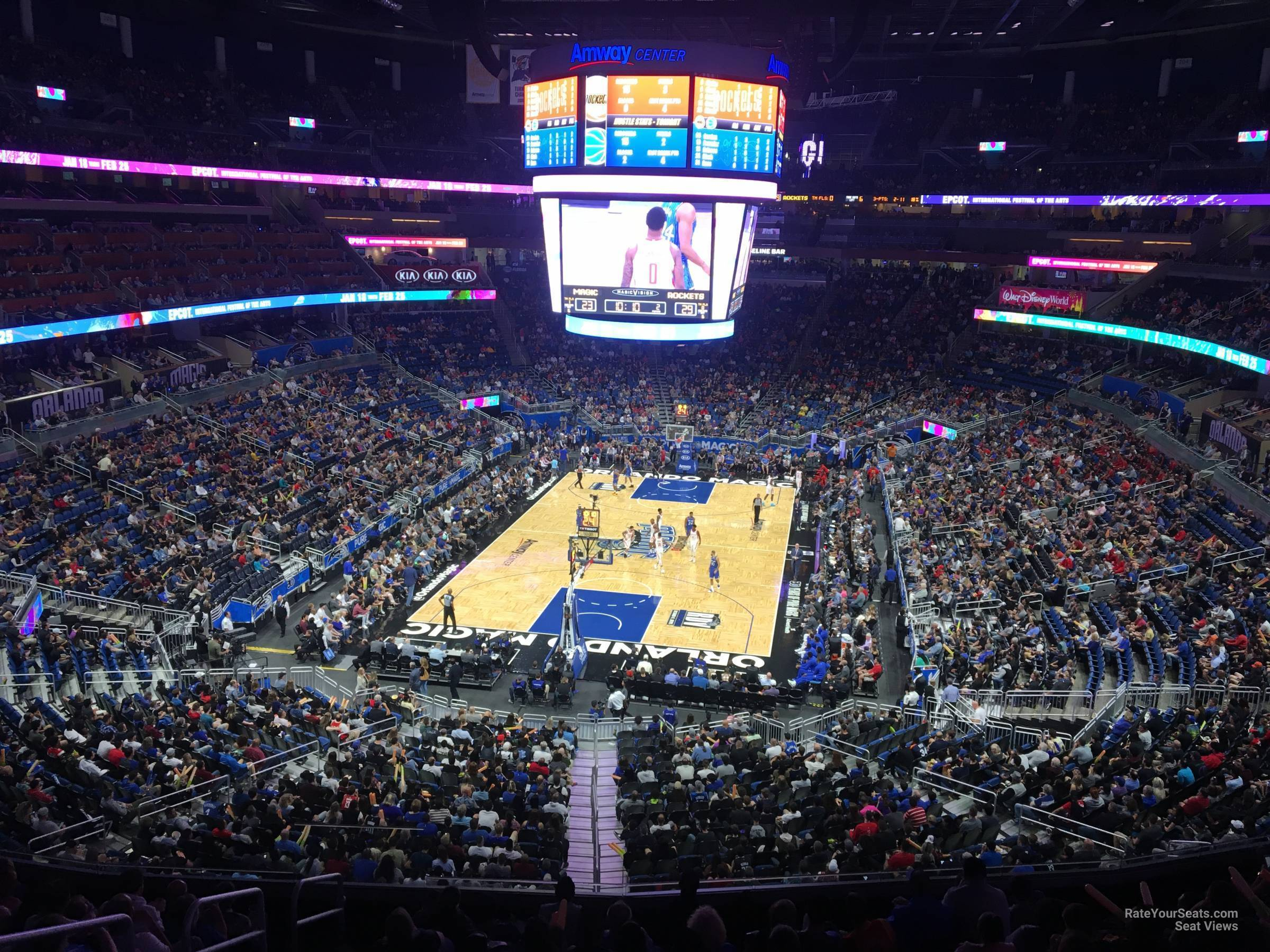Seat View for Amway Center Section 109A, Row 28