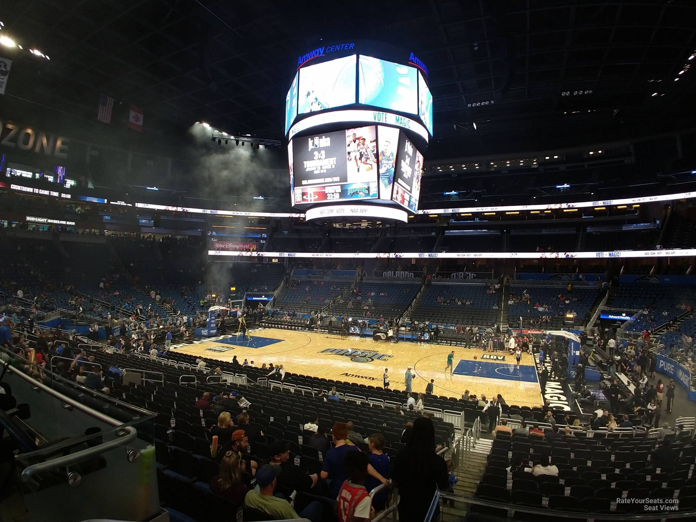 Seat View for Amway Center Section 113, Row 16