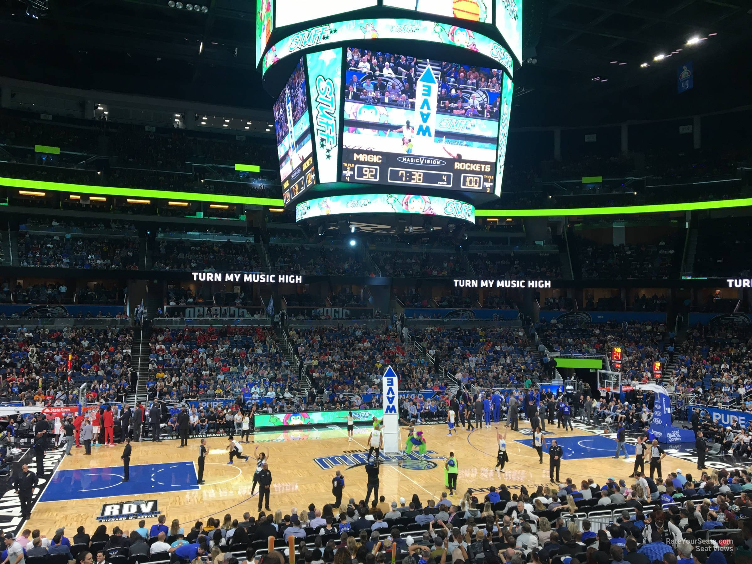 Seat View for Amway Center Section 115, Row 16