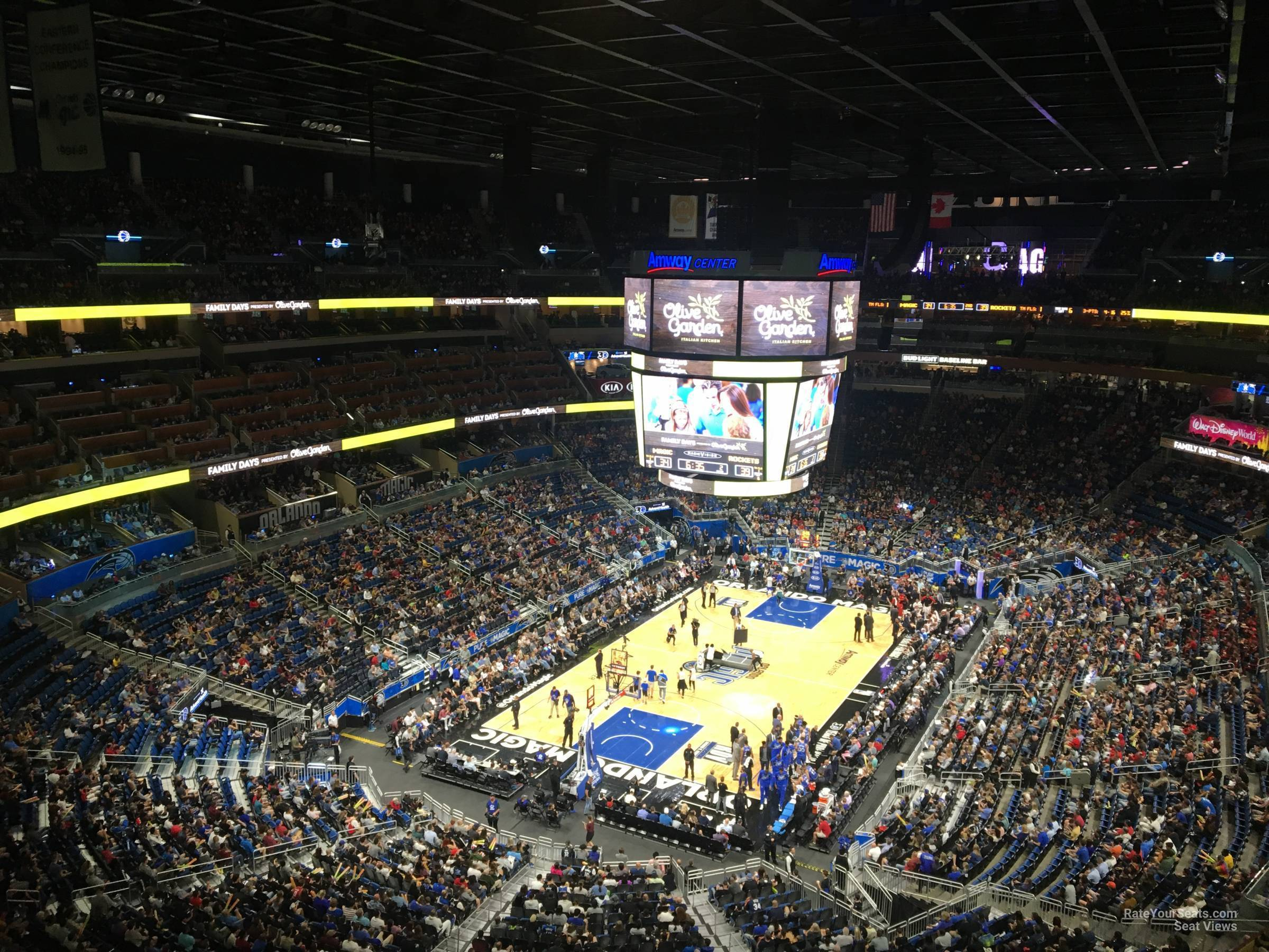 Seat View for Amway Center Section 215, Row 5