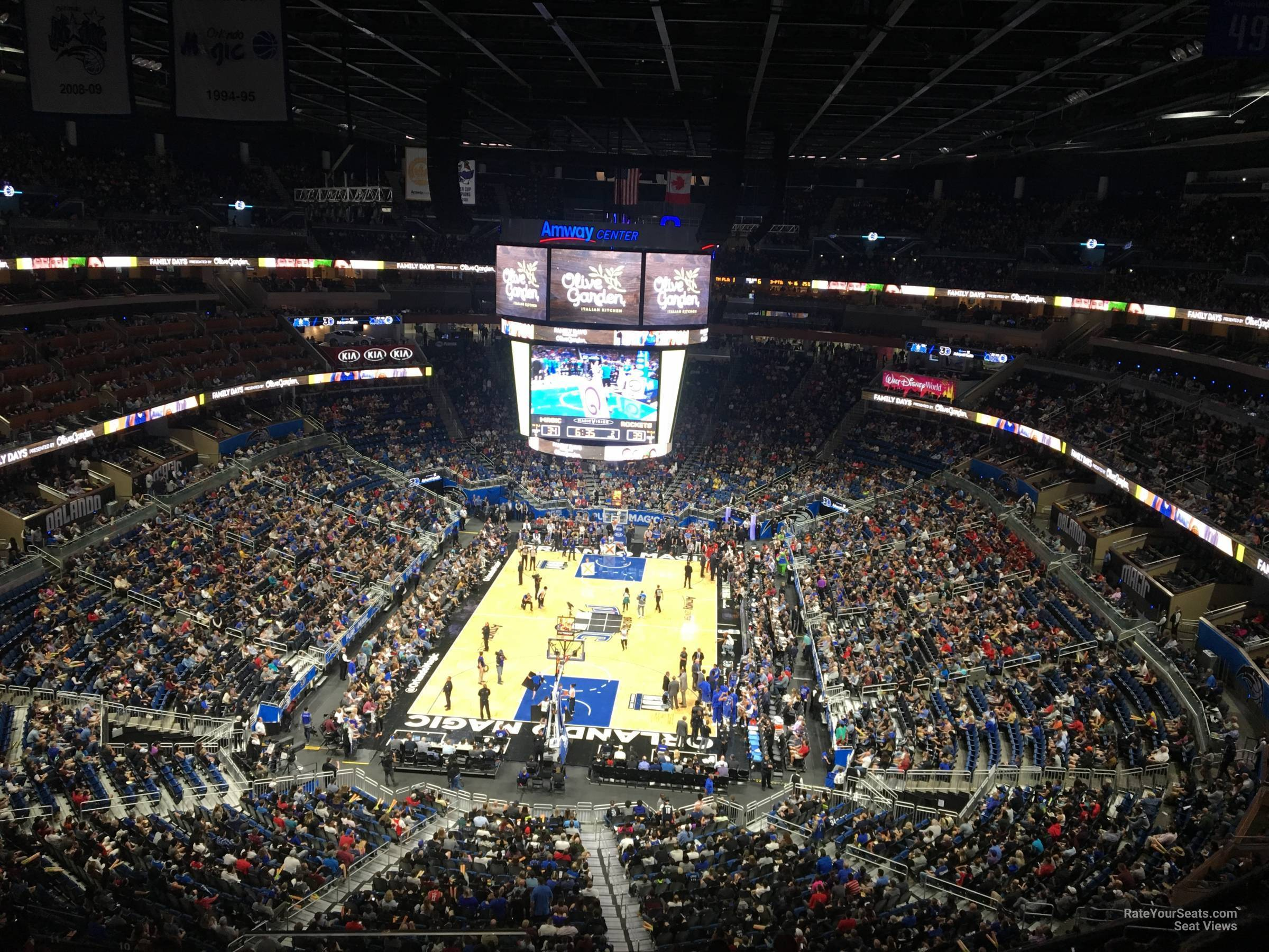 Seat View for Amway Center Section 216, Row 5