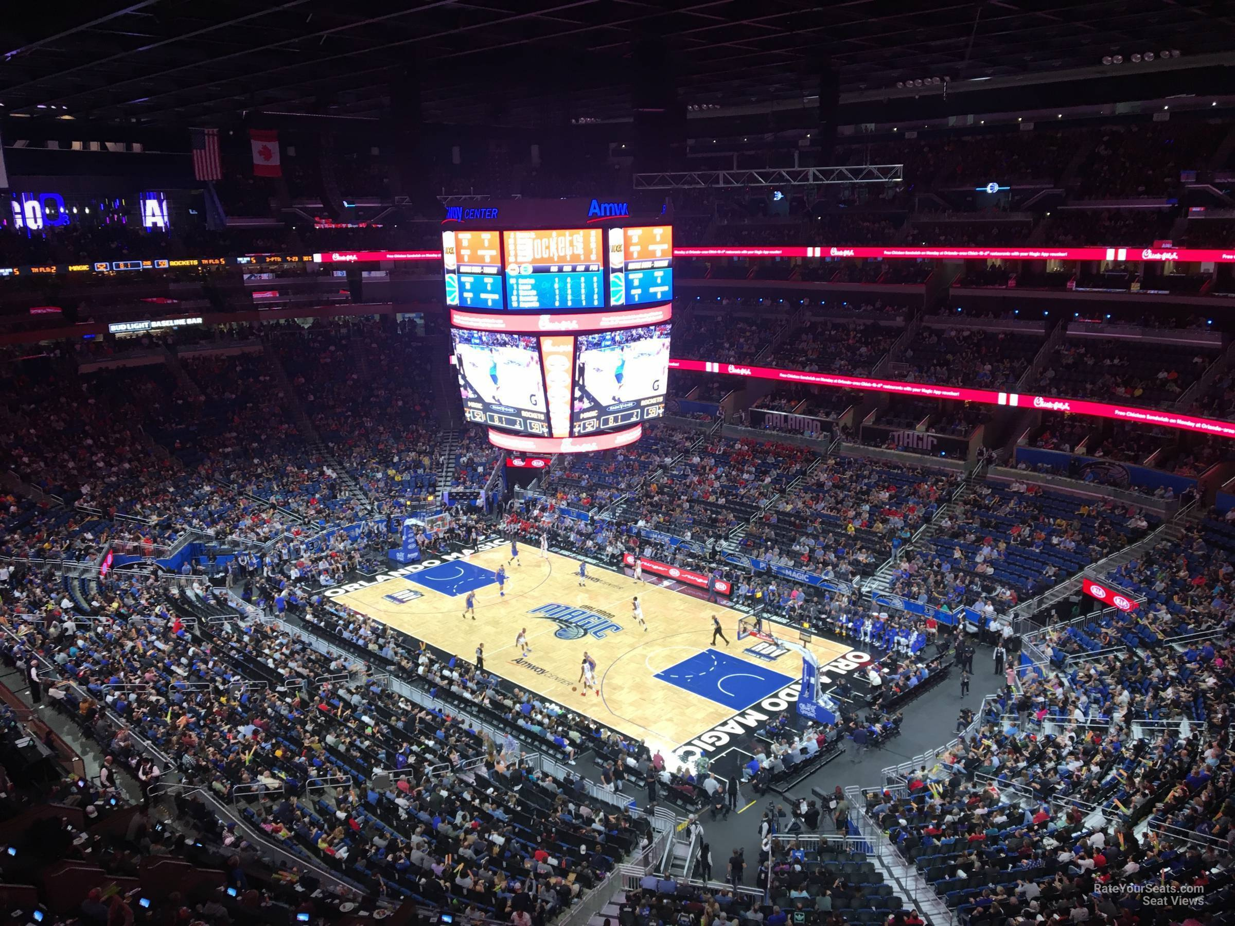 Seat View for Amway Center Section 221, Row 5