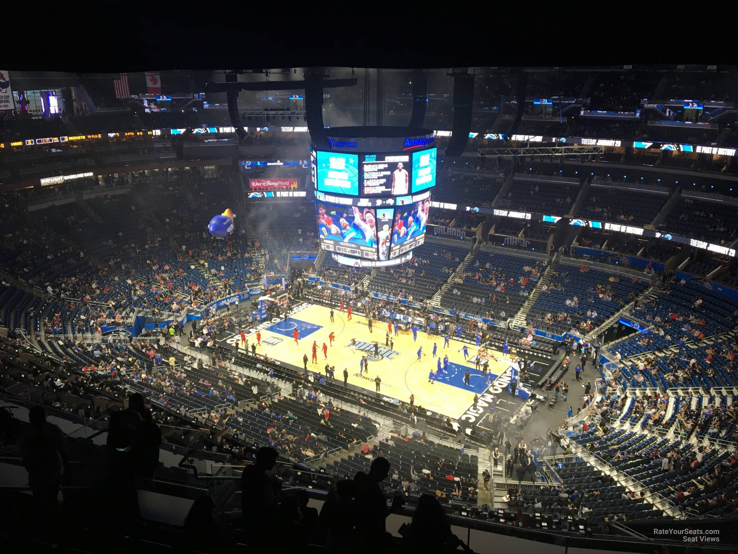 Seat View for Amway Center Section 222, Row 16