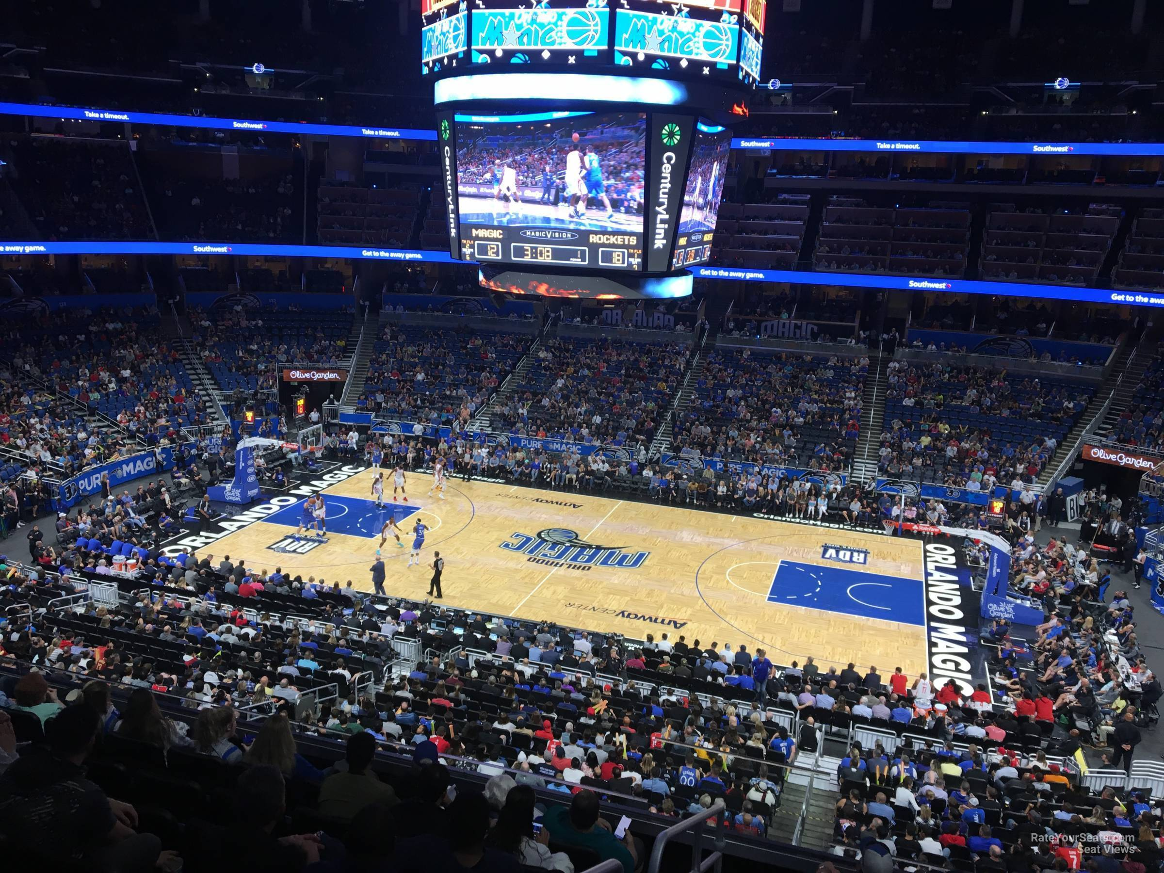 Seat View for Amway Center Section CB, Row 7
