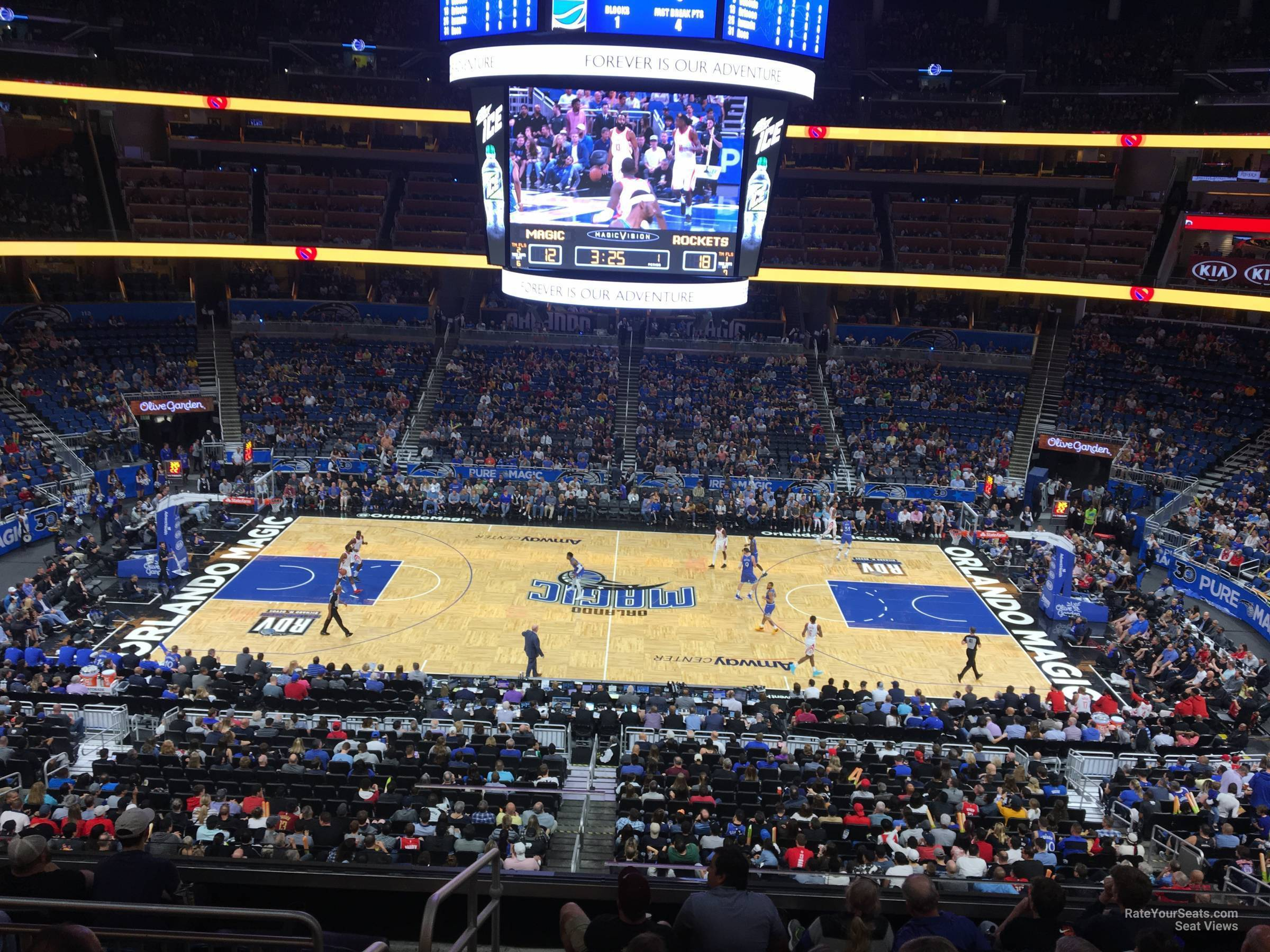 Seat View for Amway Center Section CC, Row 7