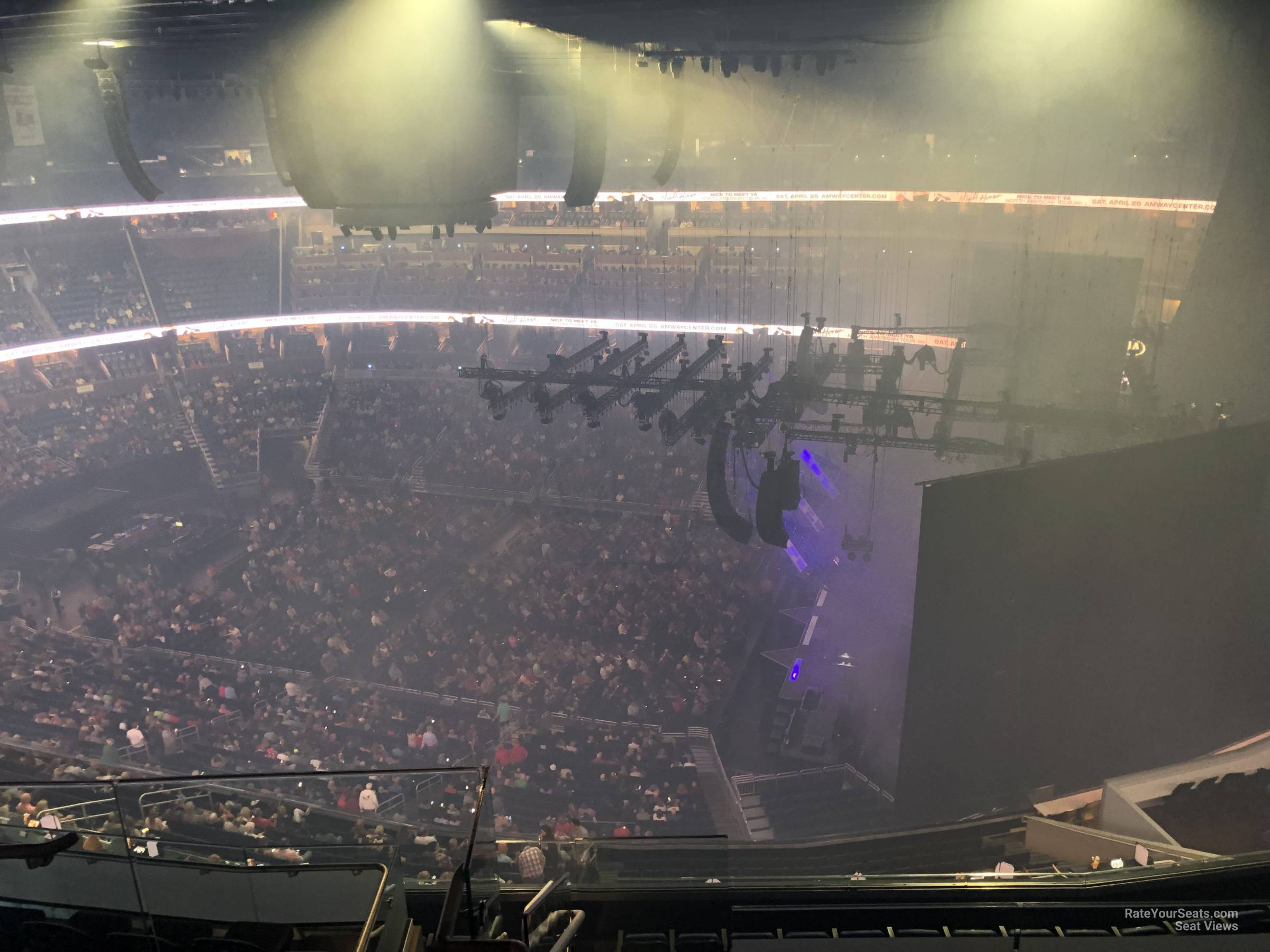 Concert Seat View for Amway Center Section 206, Row 11