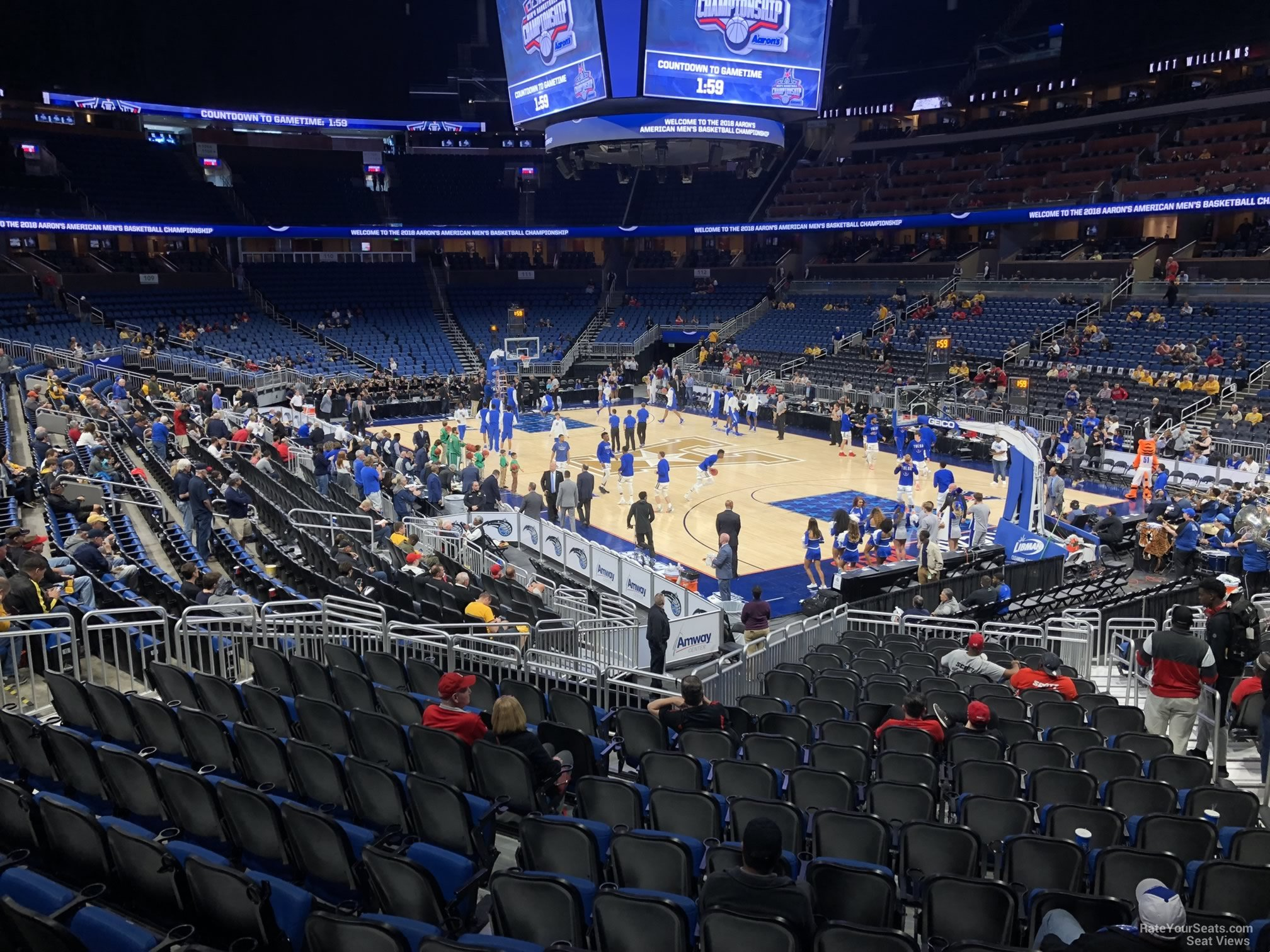 Seat View for Amway Center Section 103, Row 18