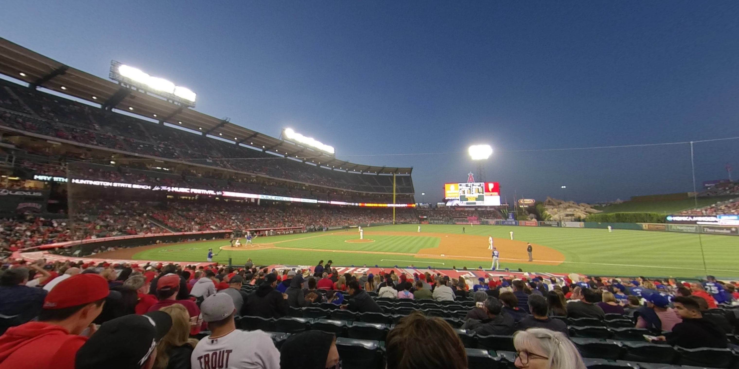 360° Photo From Angel Stadium Section 125