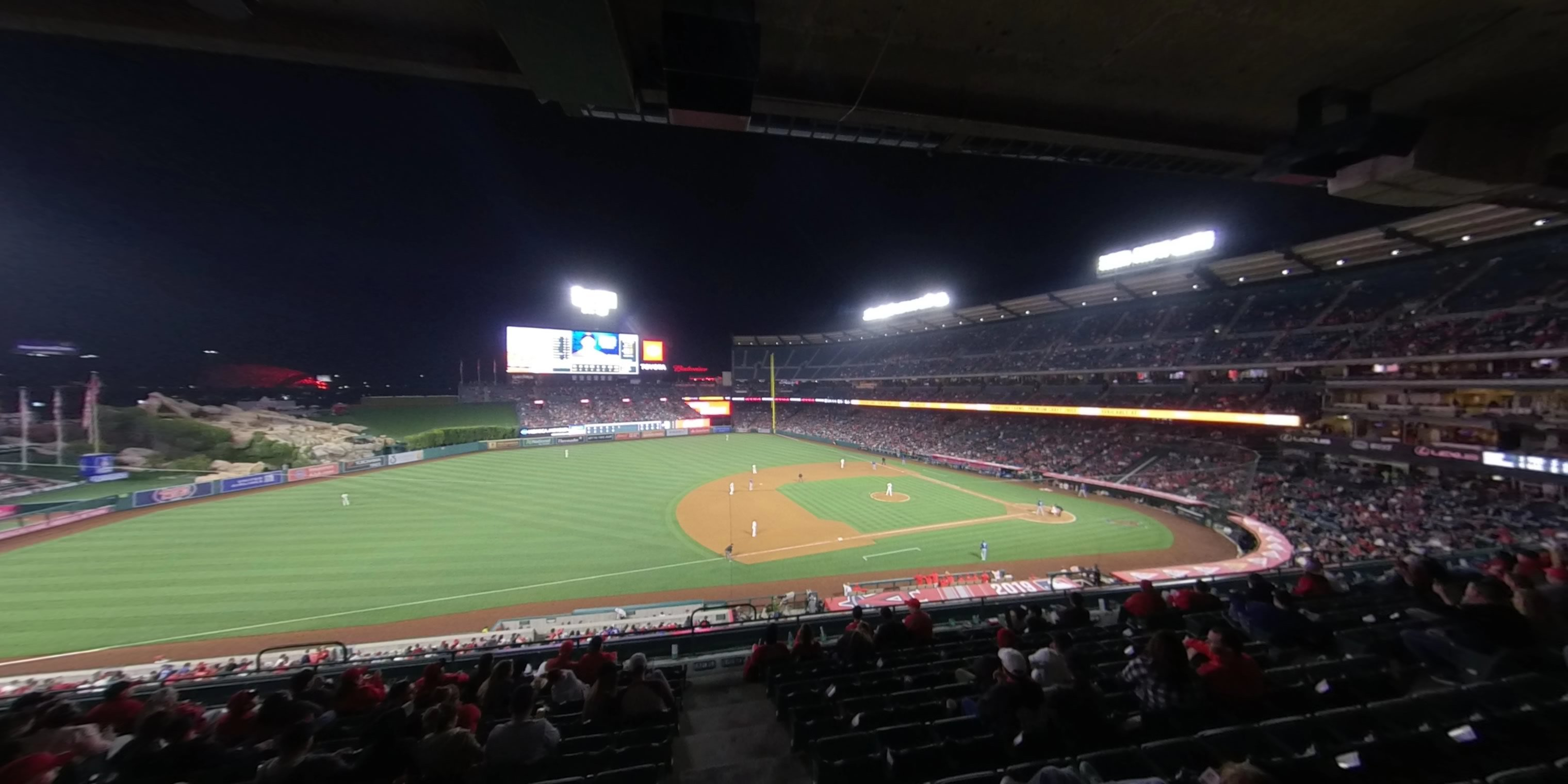 360° Photo From Angel Stadium Section 317