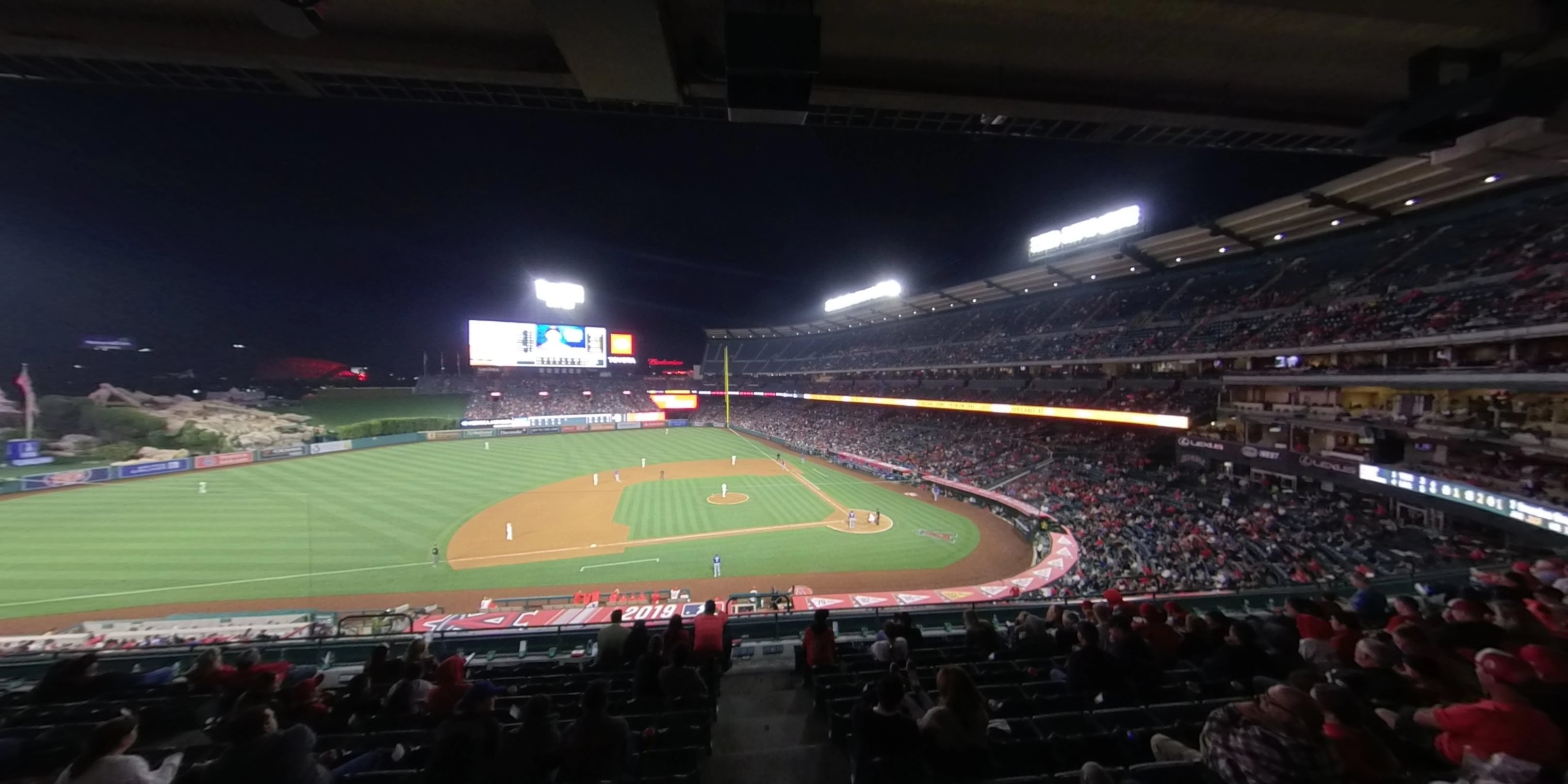 360° Photo From Angel Stadium Section 318
