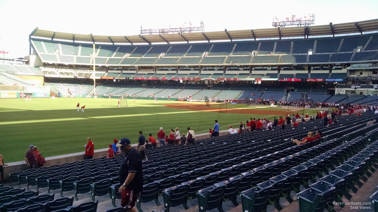 Seat View for Angel Stadium Section 104, Row S