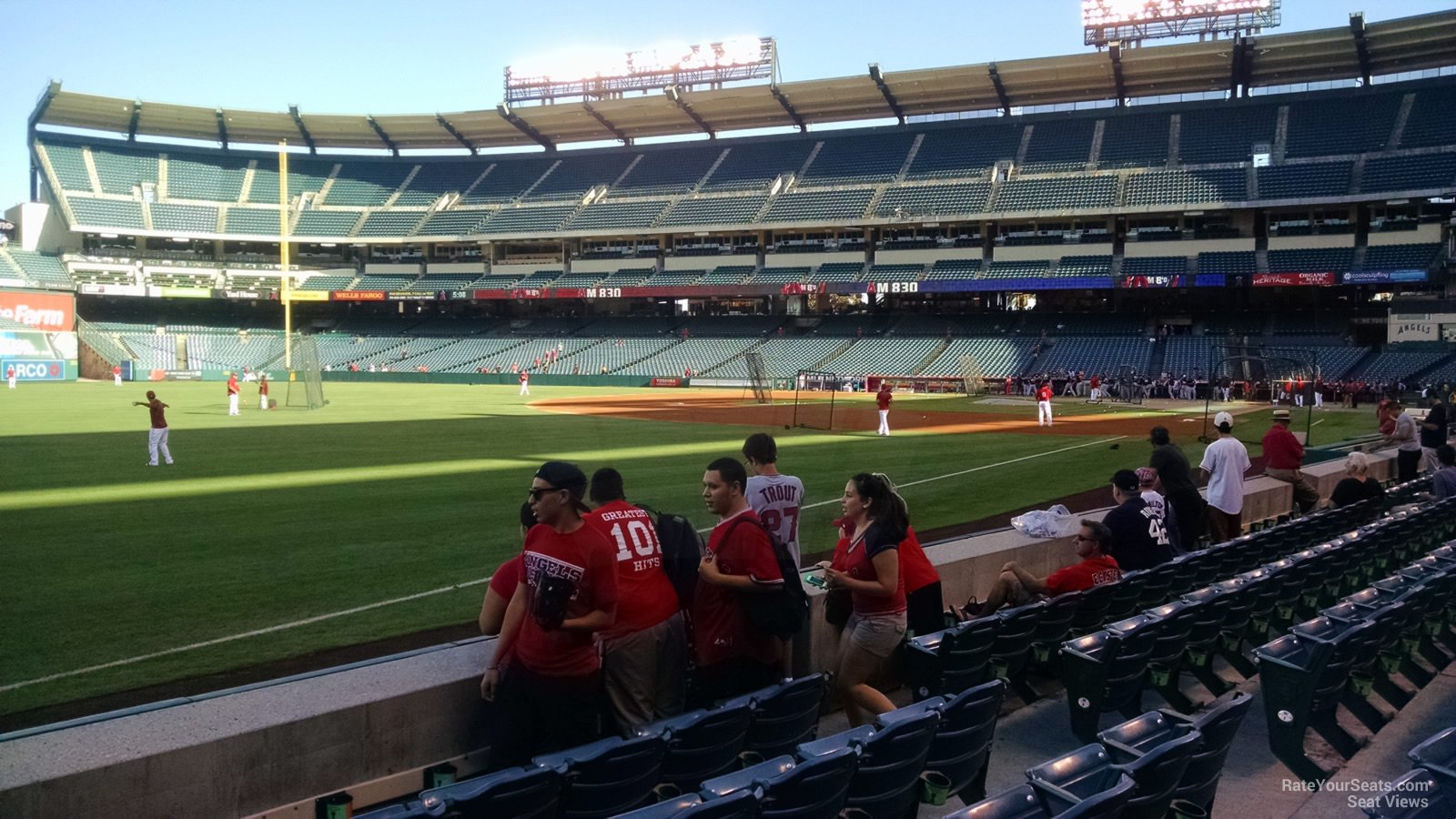 Seat View for Angel Stadium Section 106, Row E