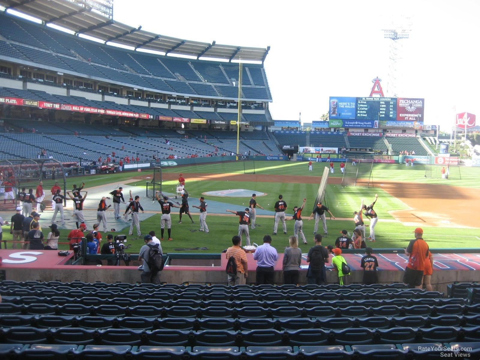 Angel Stadium Section 124 Rateyourseatscom
