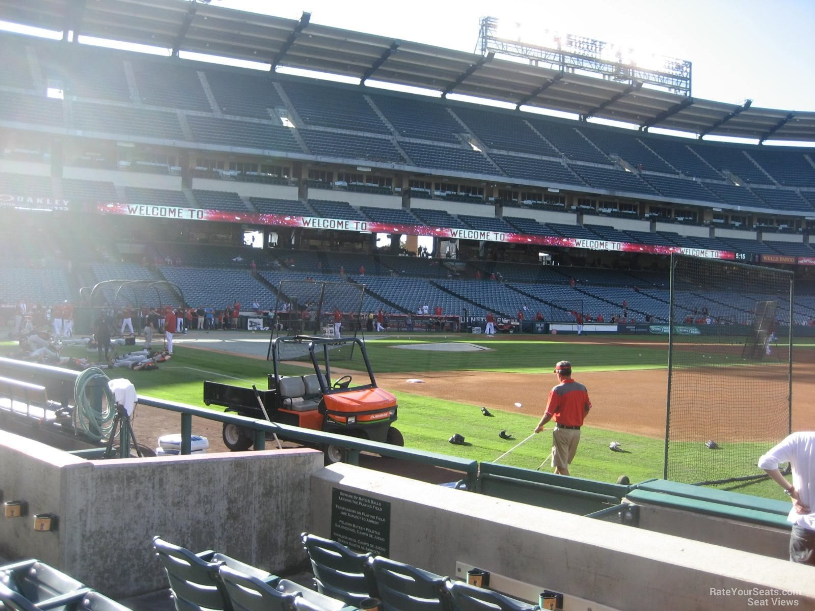 Seat View for Angel Stadium Section 127, Row E